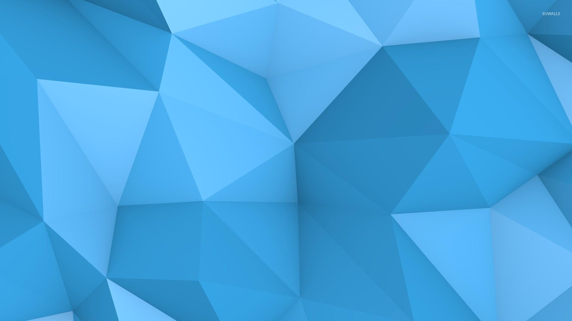 Blue polygon wallpaper