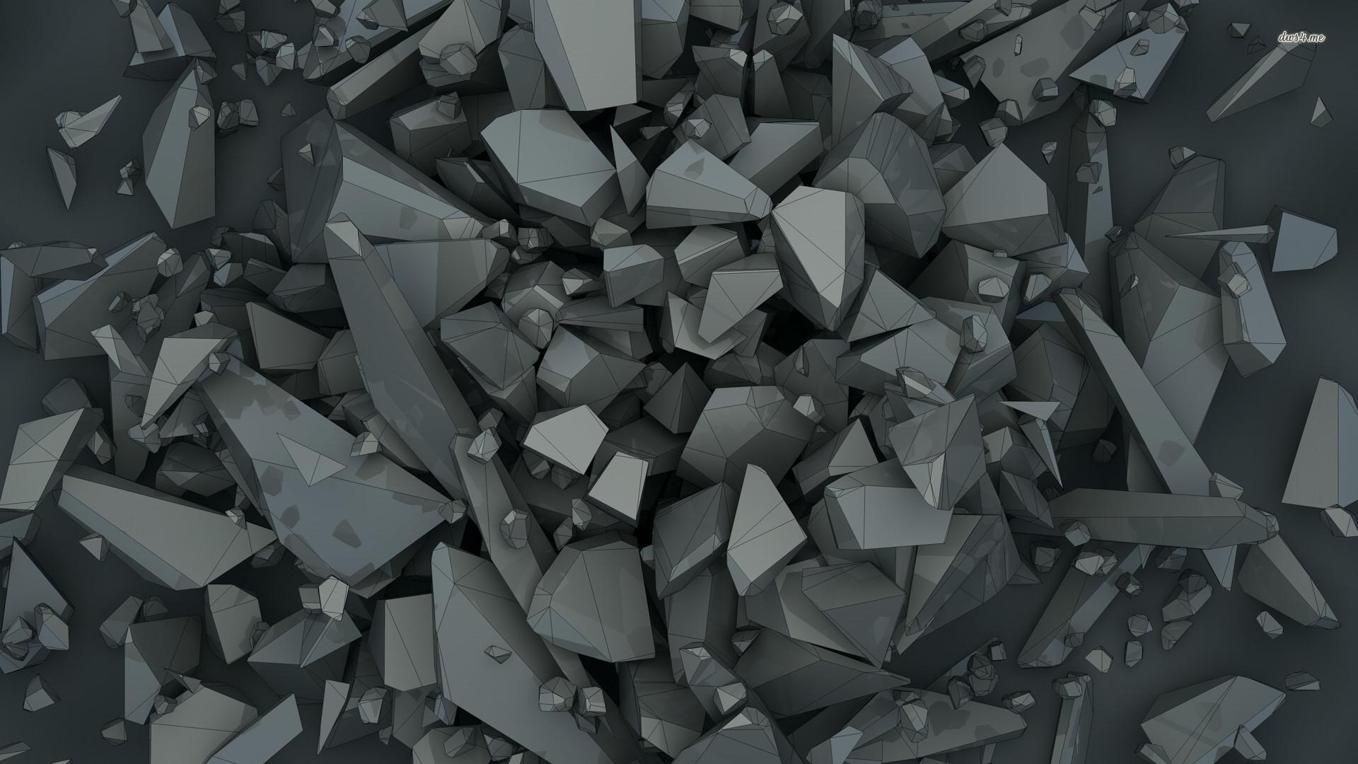 Grey polygon shapes wallpaper 1920×1080