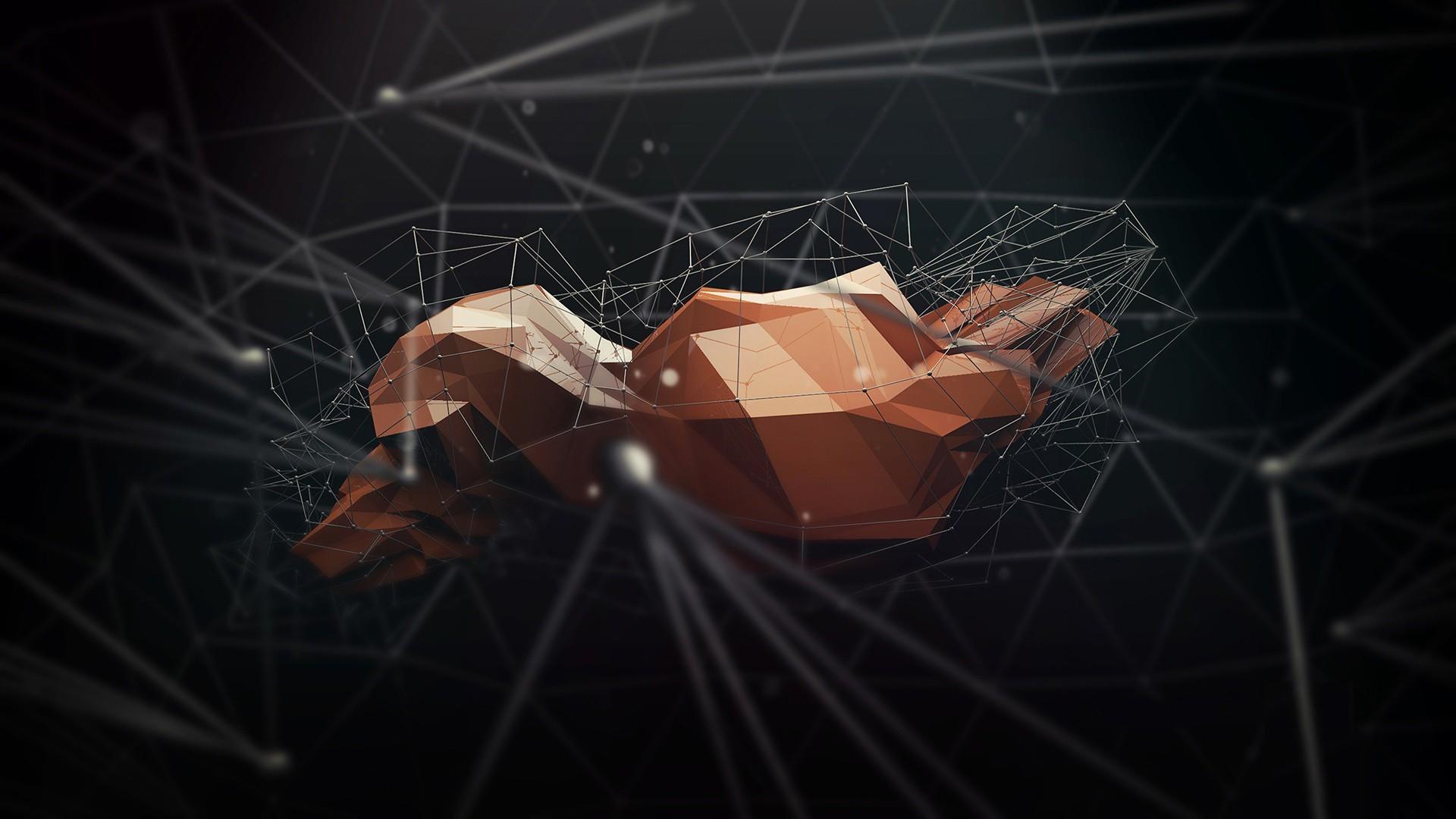 Polygon Art Abstract a wallpaper | | 80615 | WallpaperUP