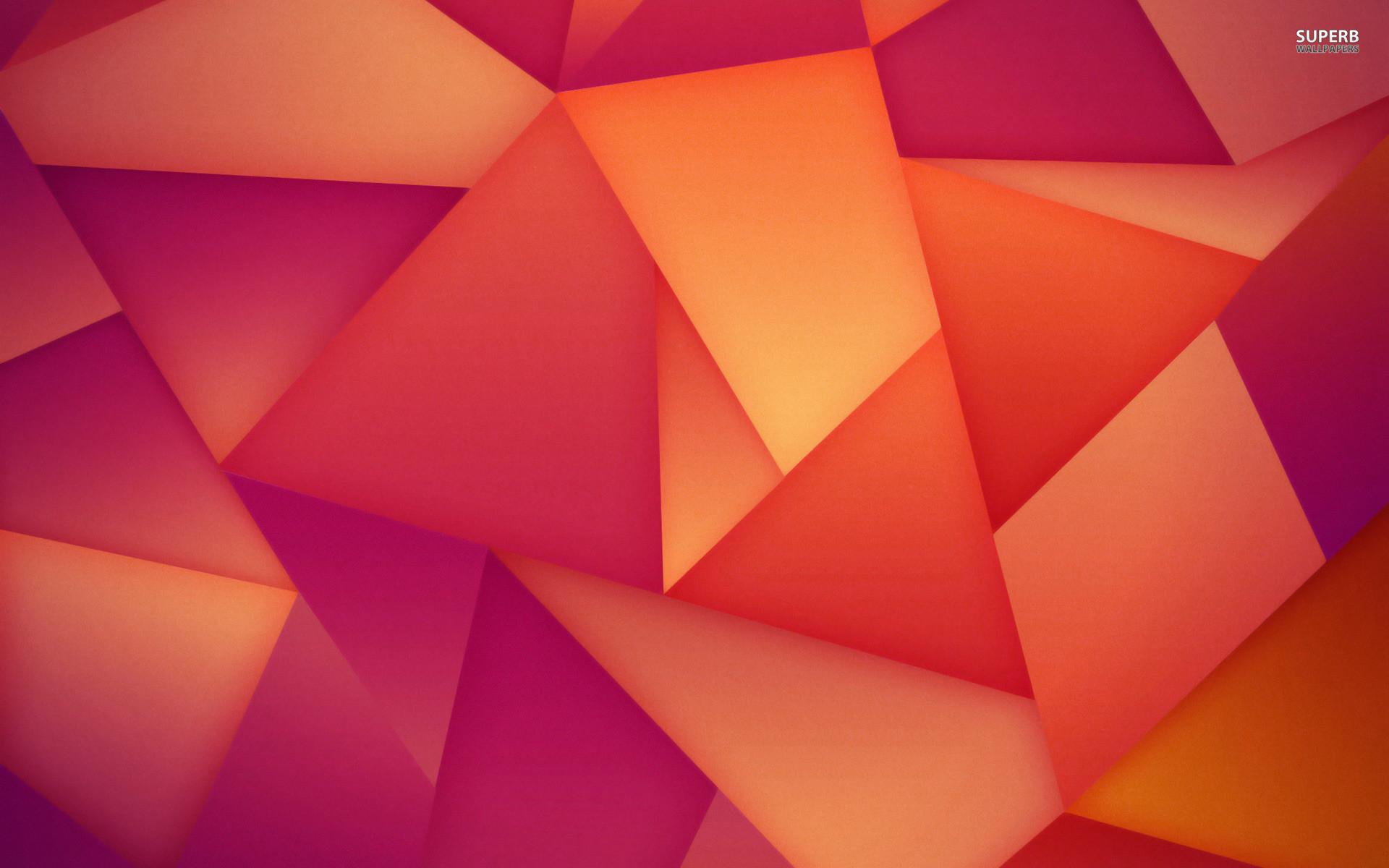 Orange and purple polygons wallpaper – 1067243