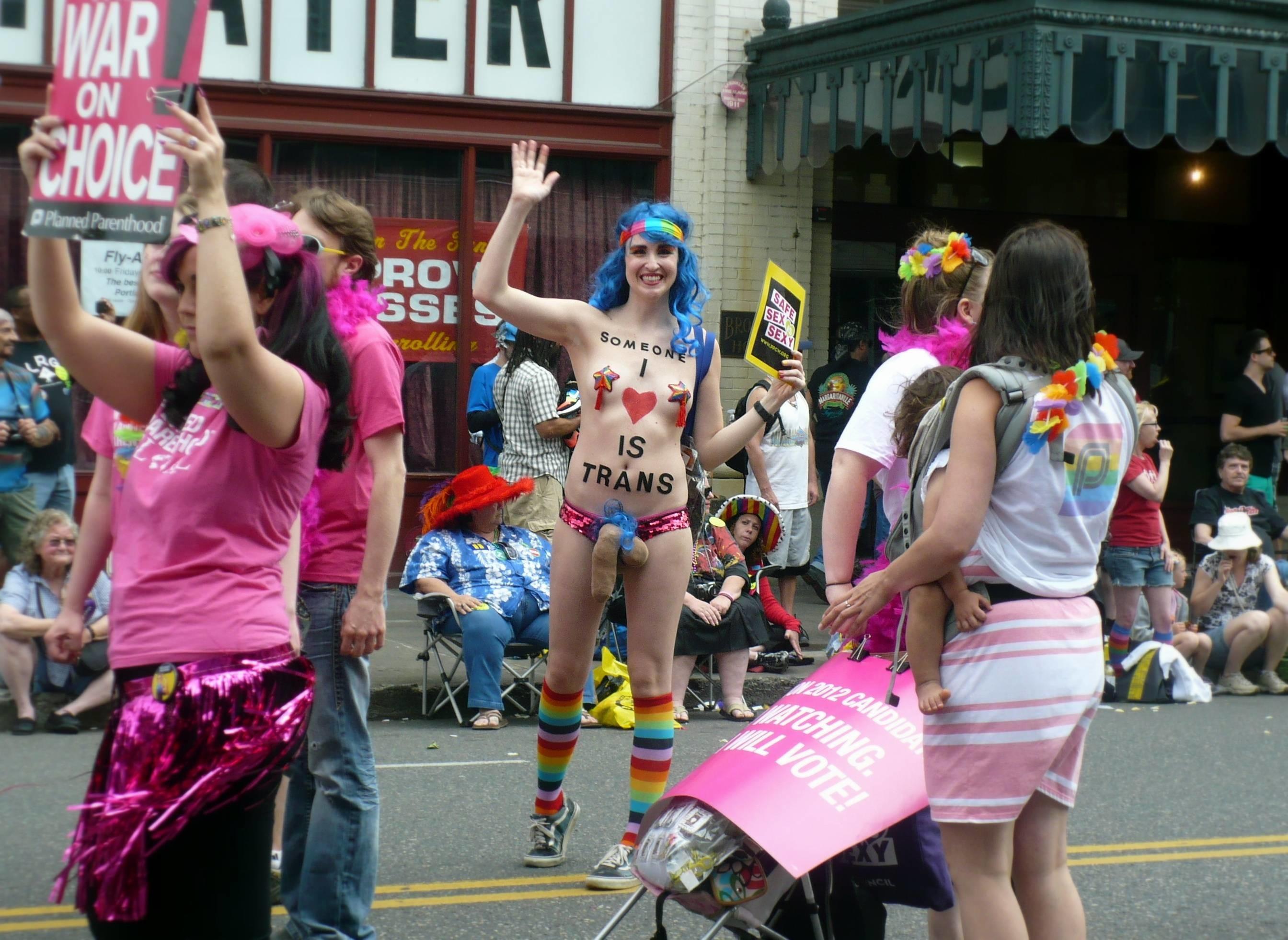 (Portland Pride Parade) …