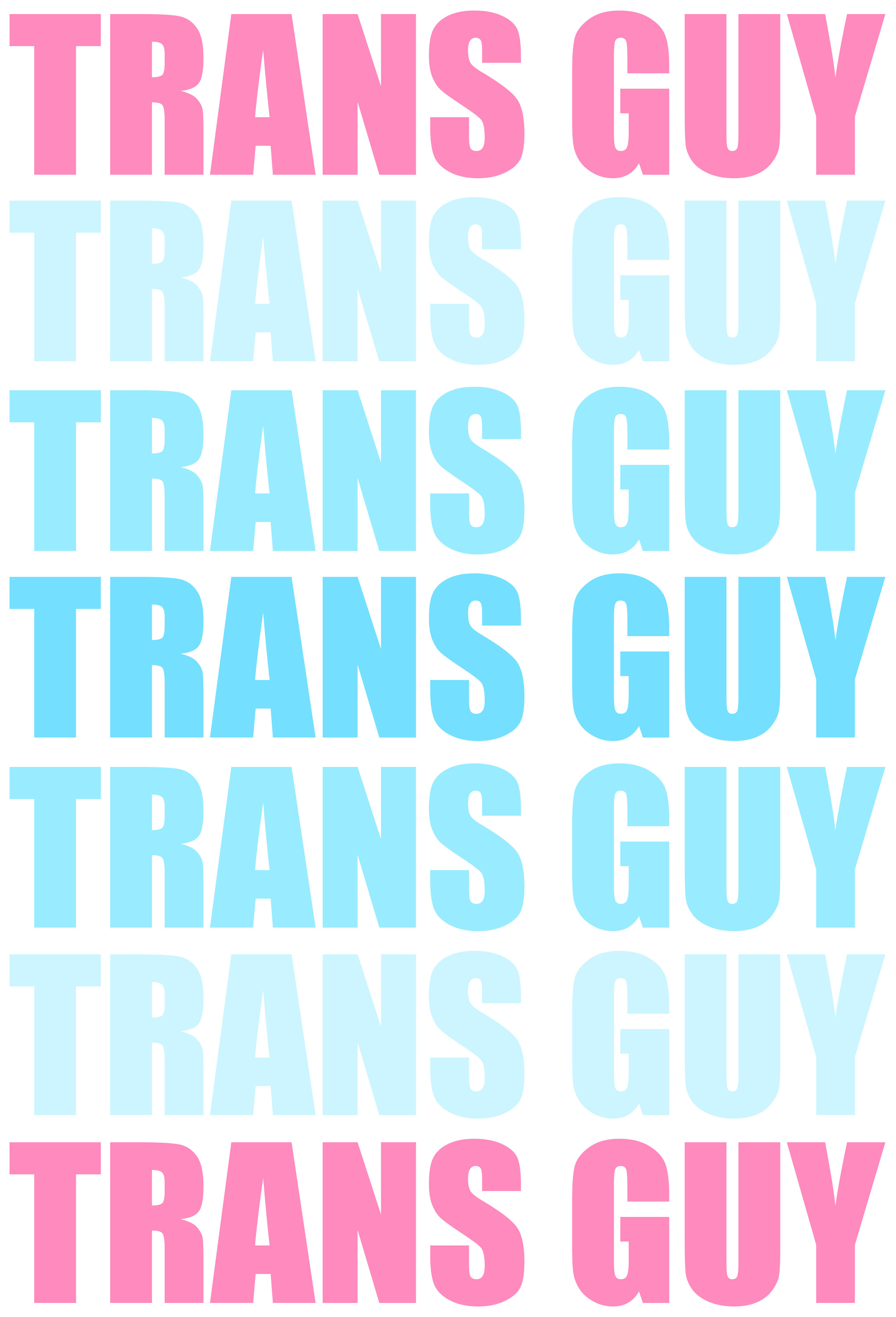 … Trans Guy Typography by Pride-Flags