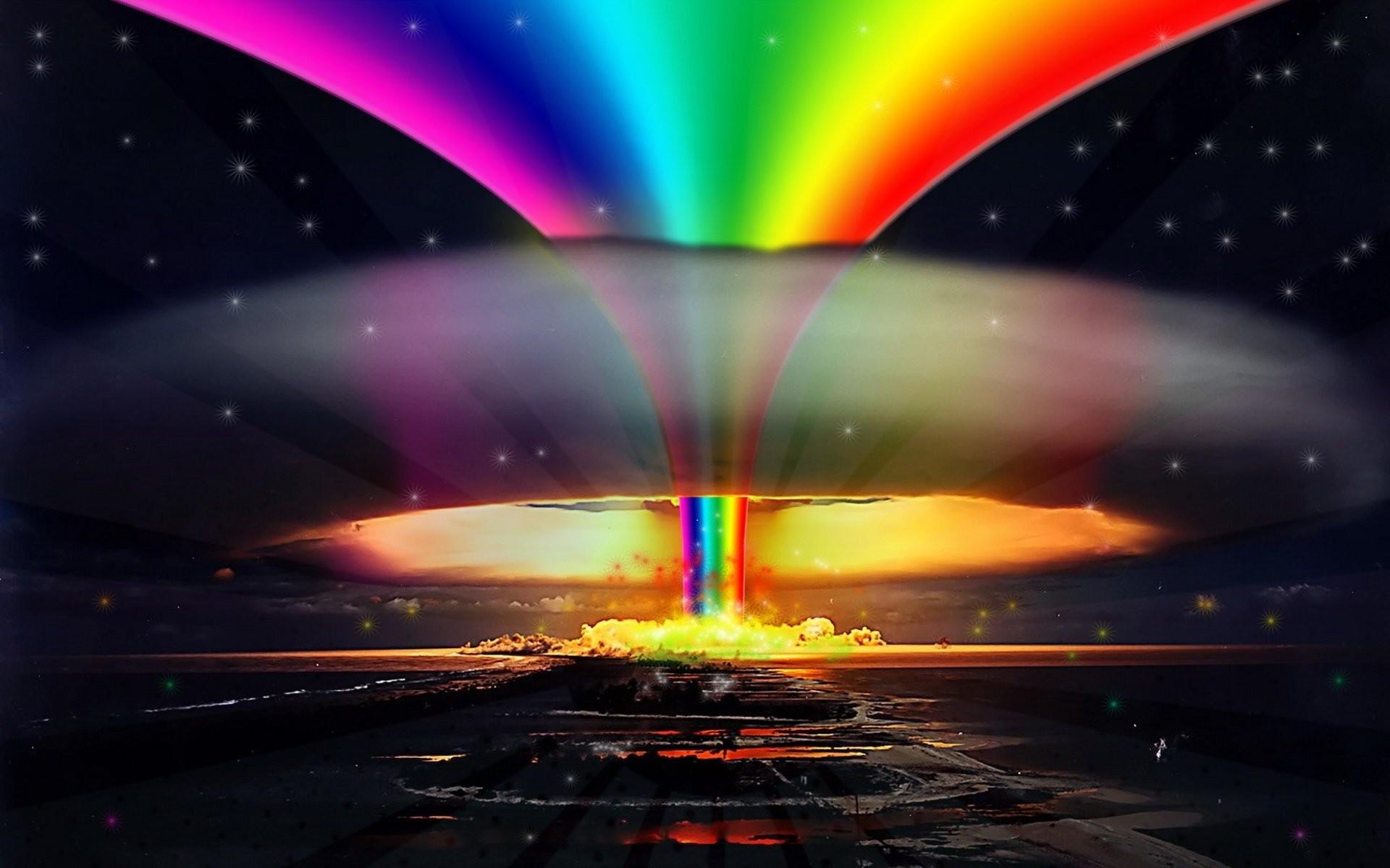 explosions pride rainbows selective coloring gay wallpaper background