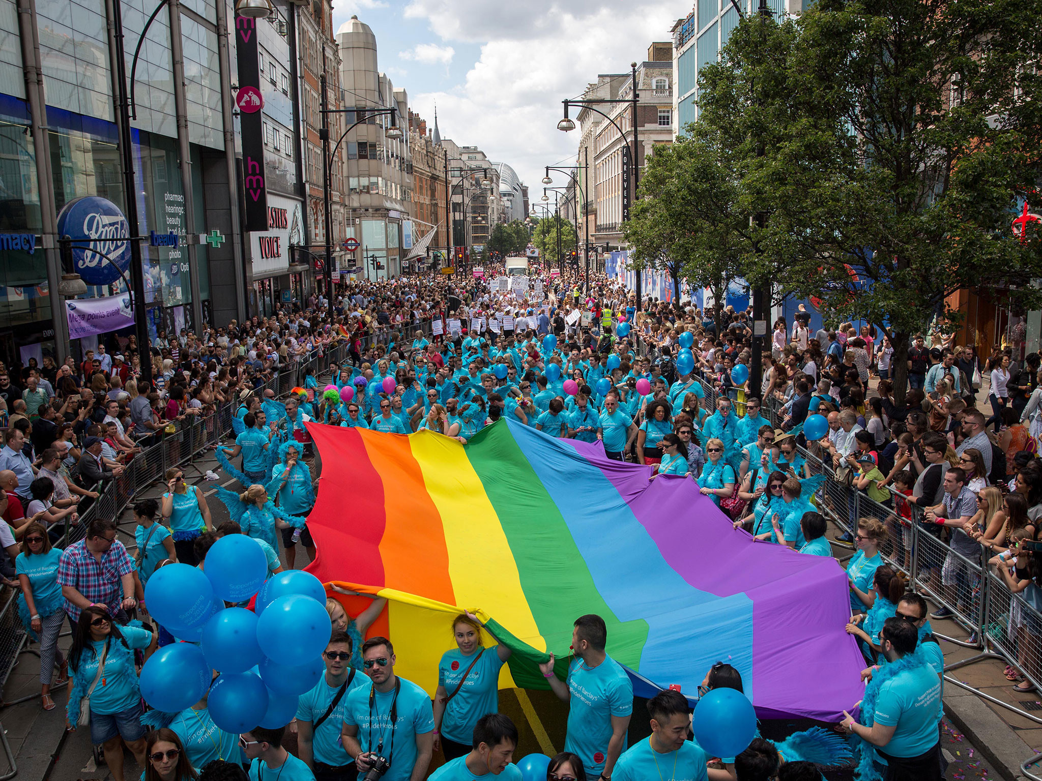 London Pride: 30,000 take part in biggest ever gay pride parade | The  Independent