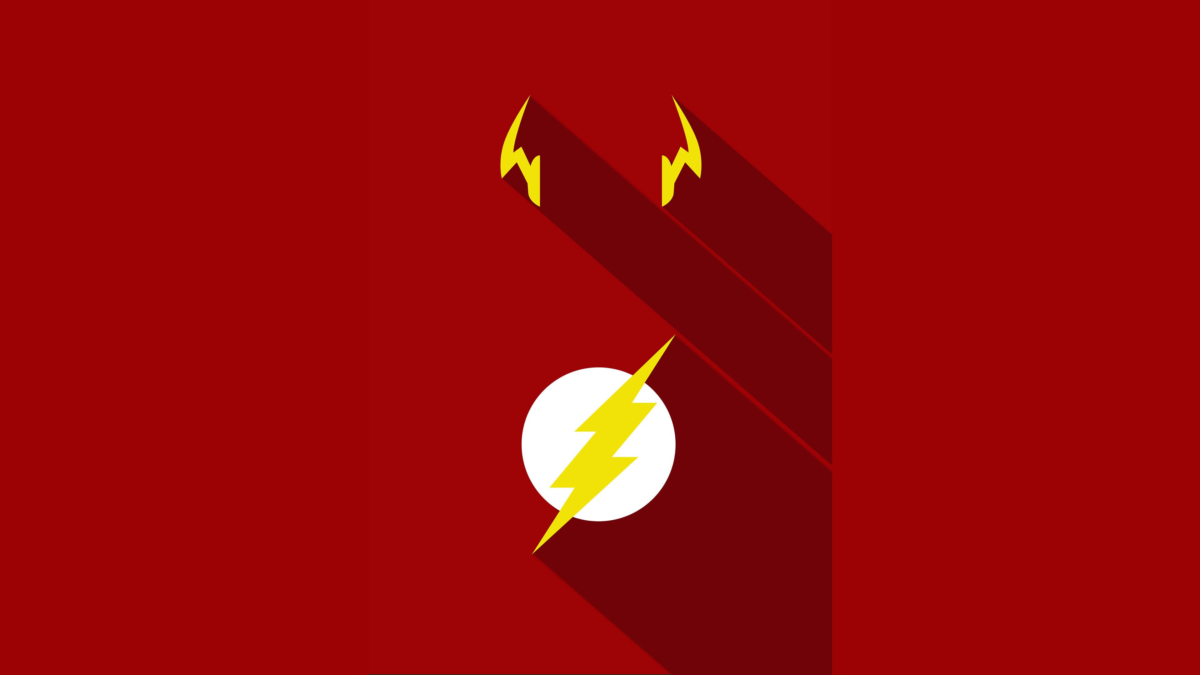 Flash Minimalism Poster | Superheroes HD 4k Wallpapers