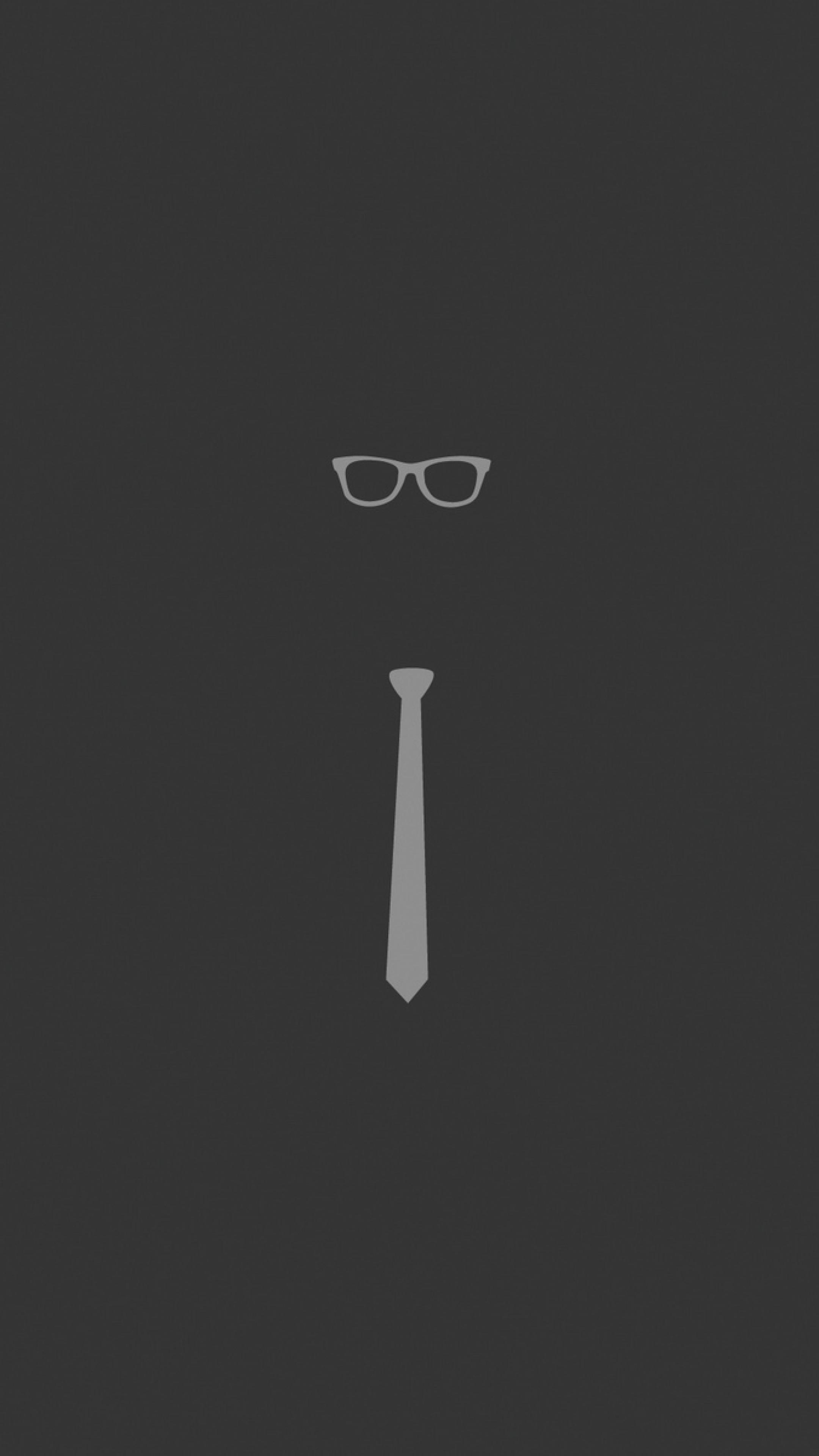 Wallpaper tie, glasses, graphic, minimalist