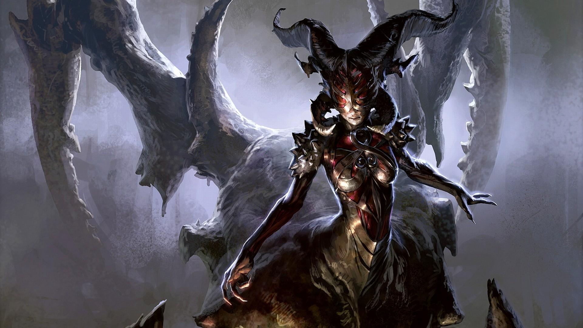 Artwork Demon Girl Demons Devil Fantasy Art Magic The Gathering