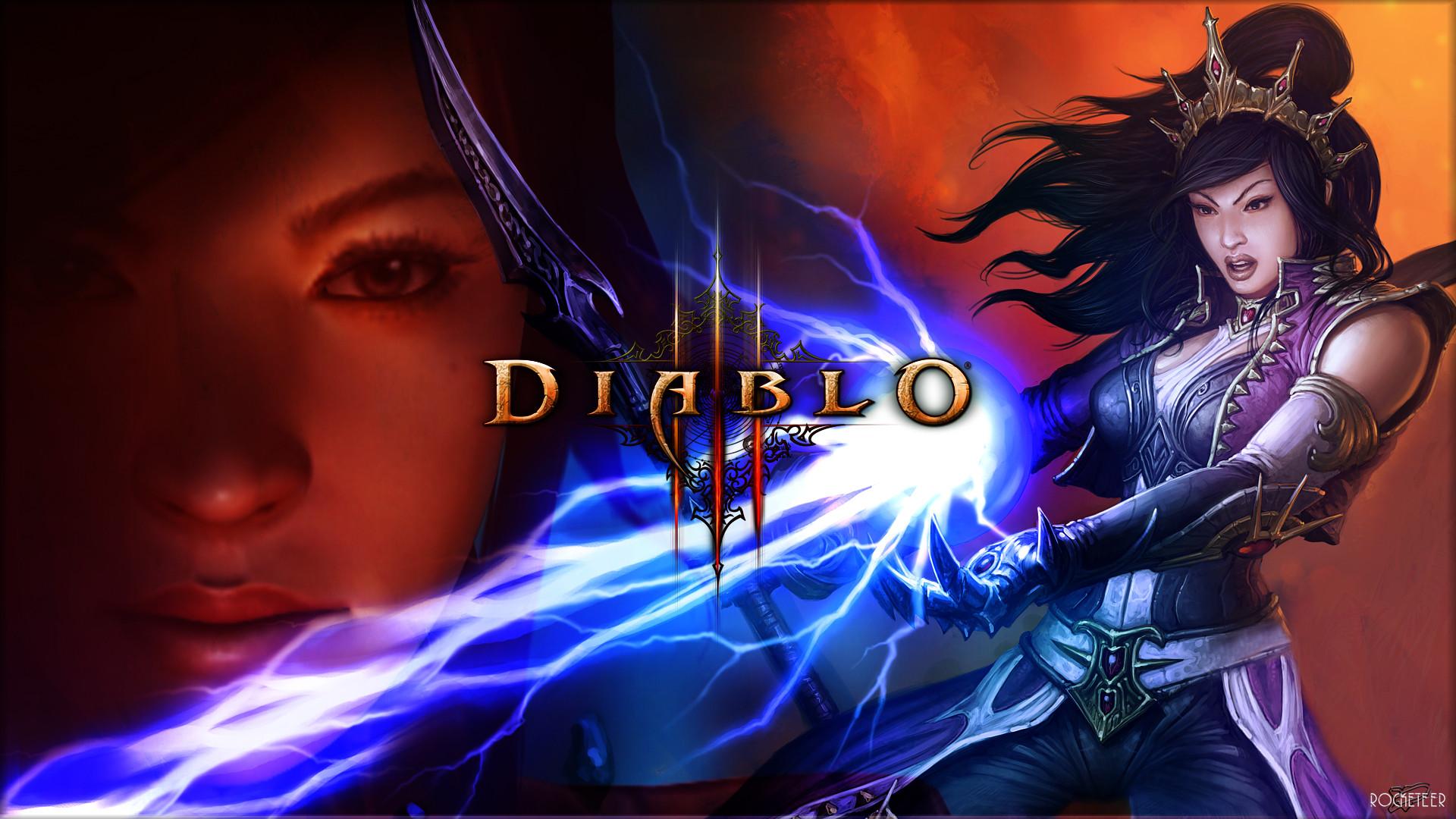Diablo 3 Female Wizard wallpaper from Diablo 3 wallpapers