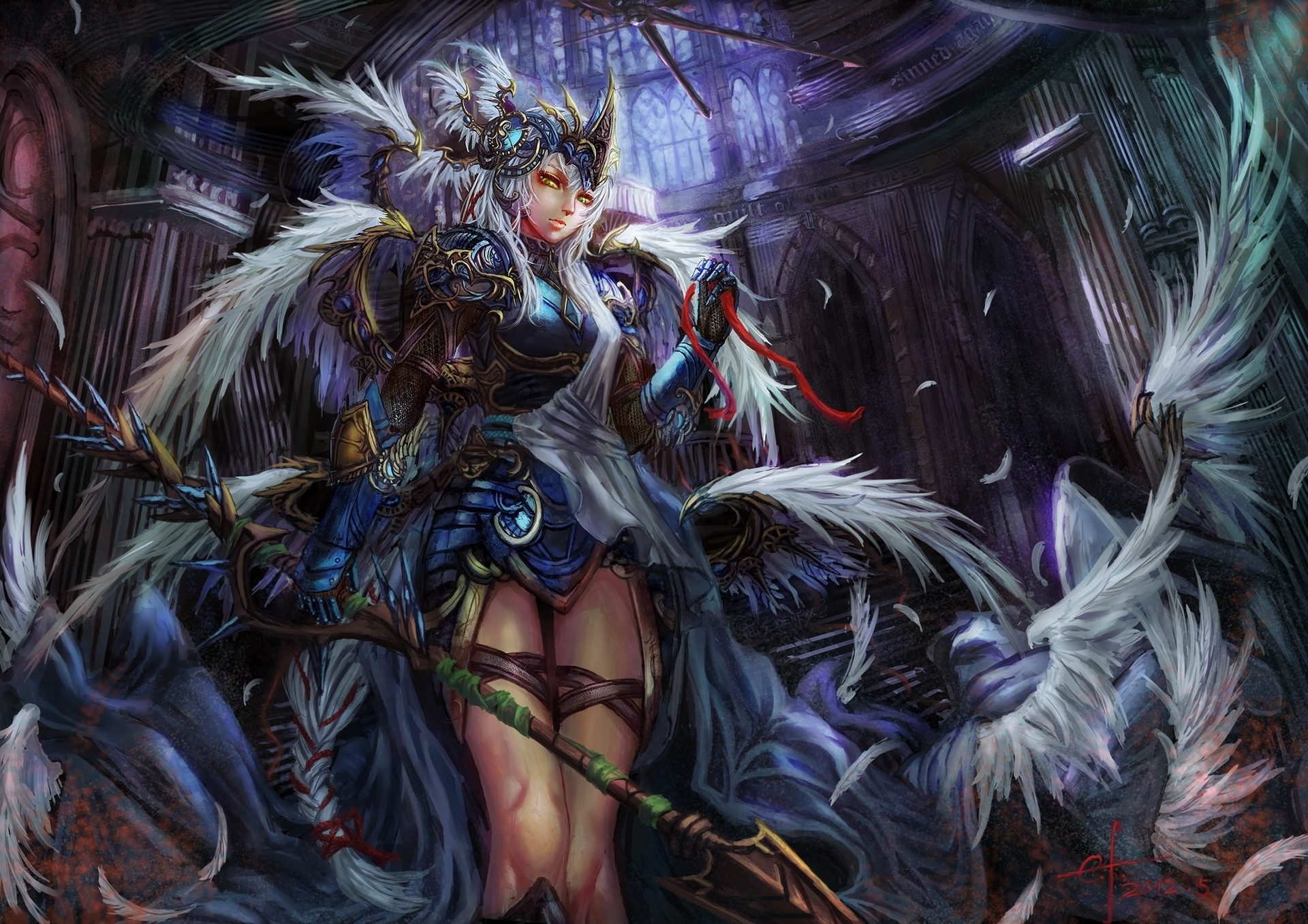 Fantasy Women Warrior Girl Armor Weapon Wallpaper