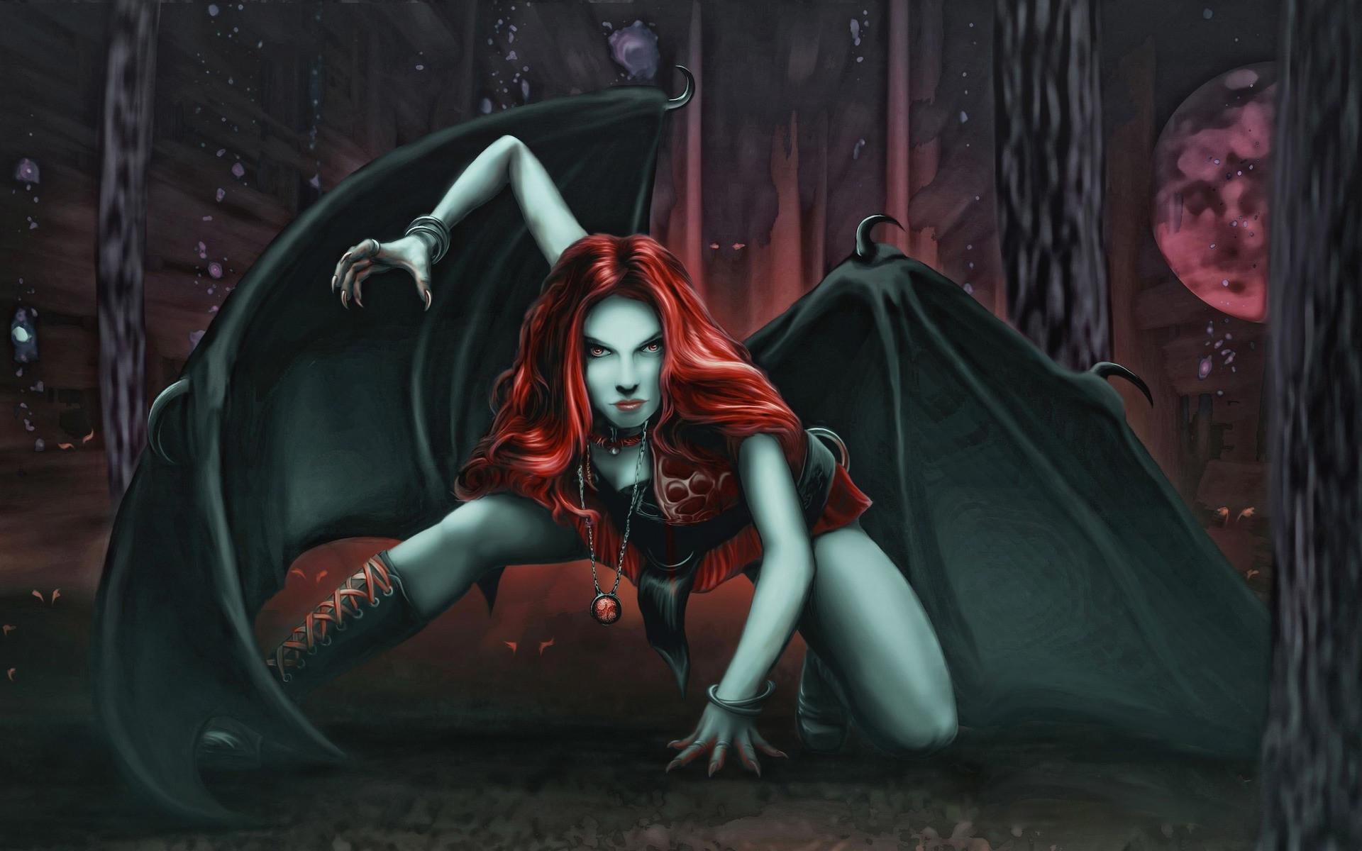 Redhead vampire Wallpaper #27841