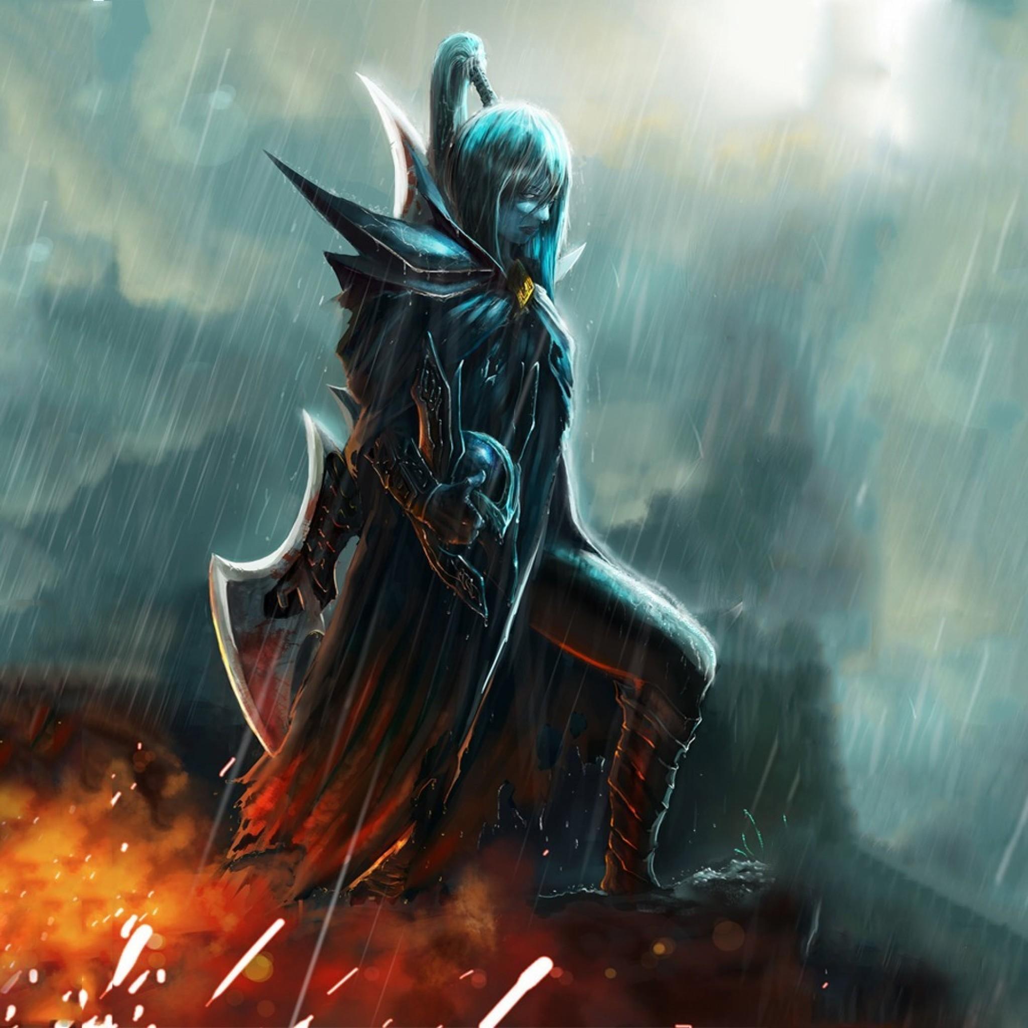 Preview wallpaper phantom assassin, dota 2, art, female, game 2048×2048