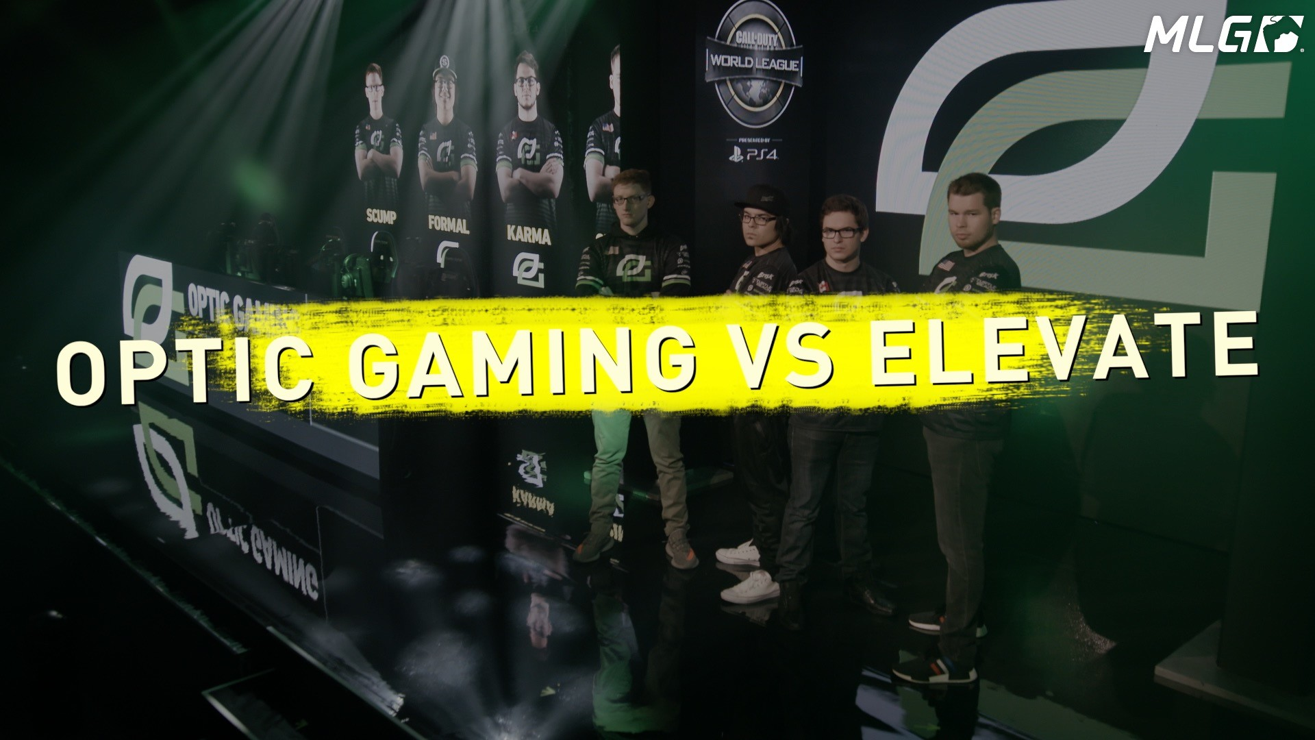 CWL GPL Group Green Optic Gaming vs. Elevate Matchup Video