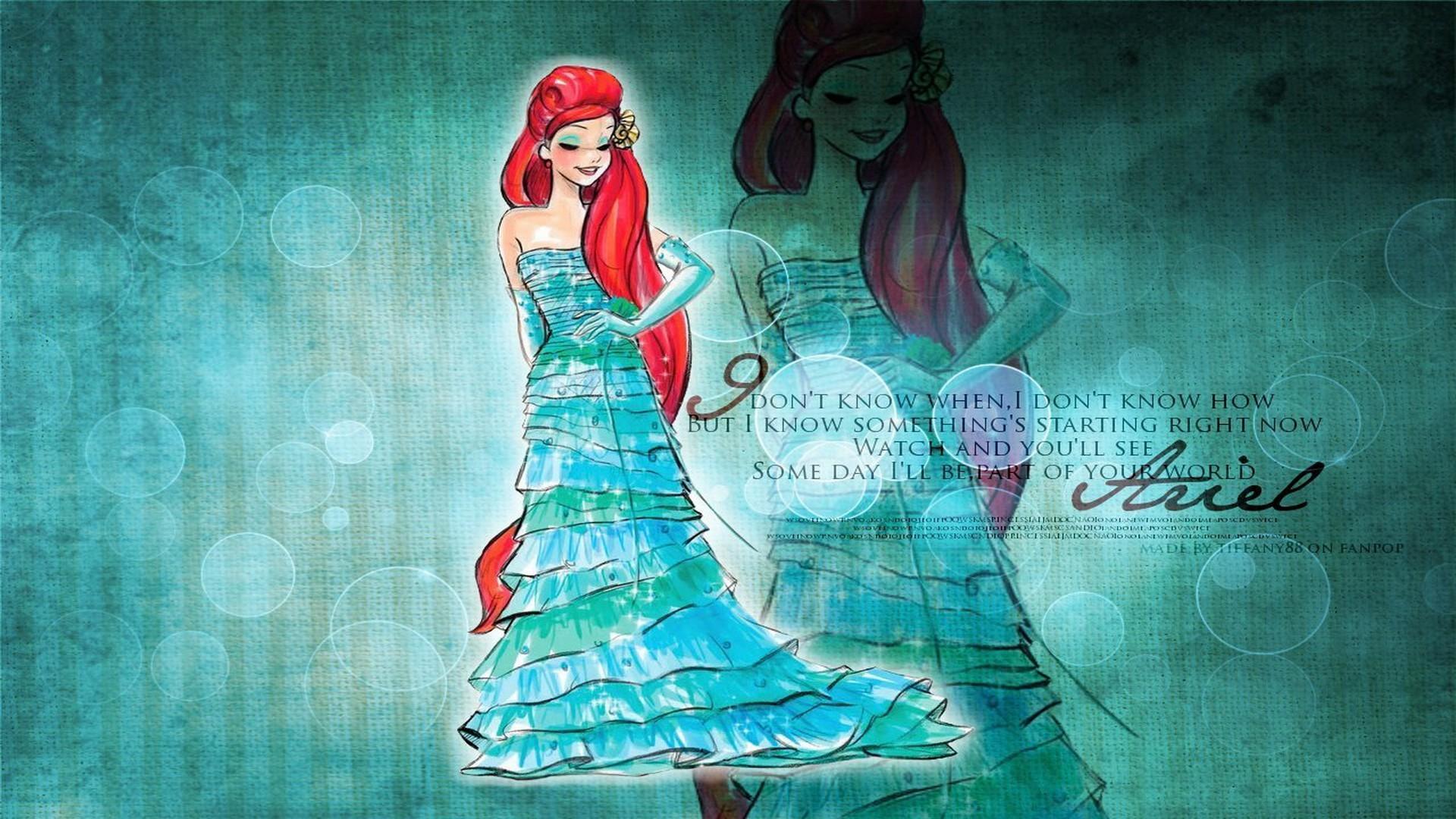 adult princess quotes wallpapers for desktop   Walt Disney Princess Ariel  HD Wallpaper Walt Disney Princess