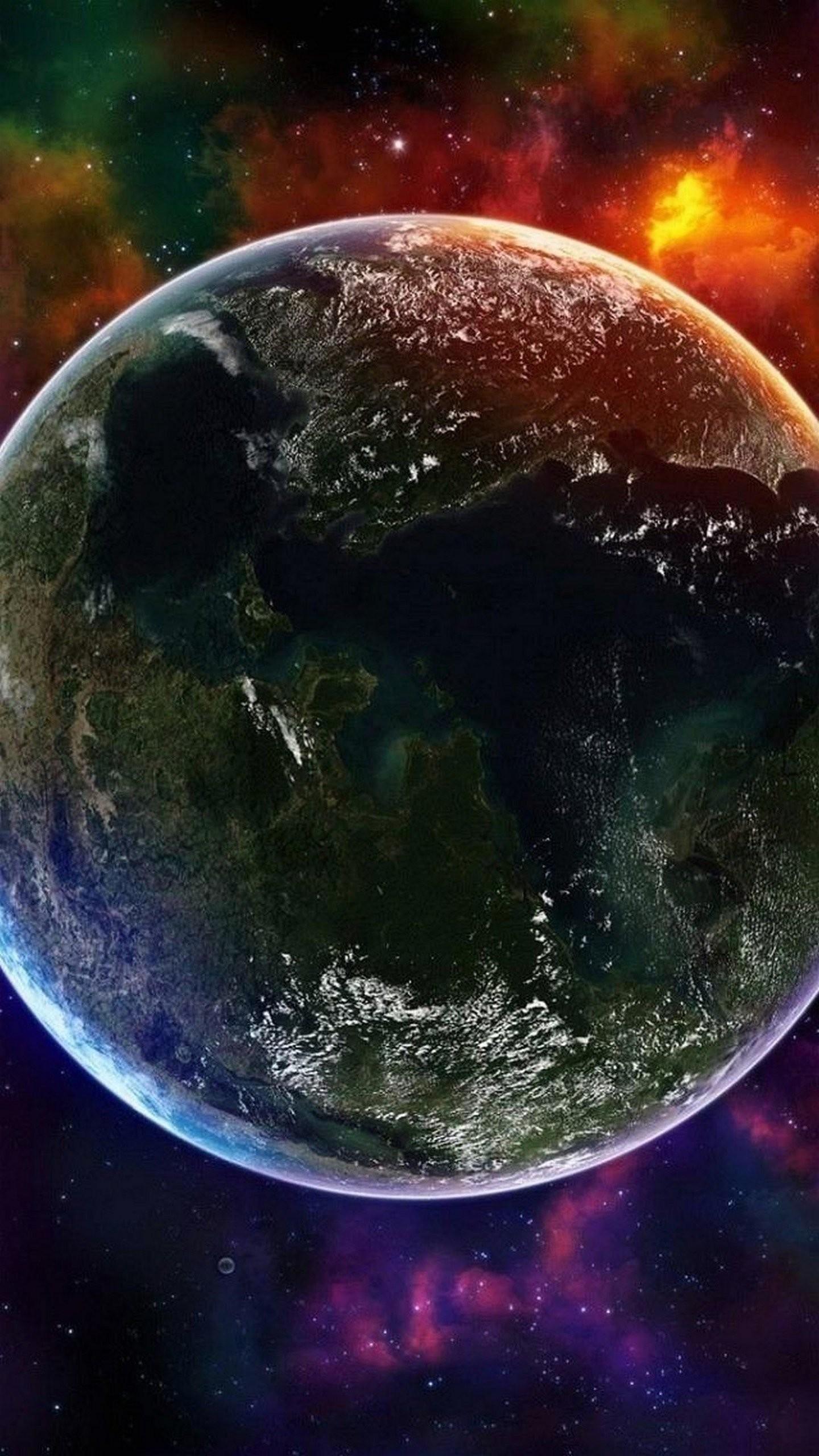Wallpaper Sony Xperia Z4 Quad Hd Earth Planet 1.