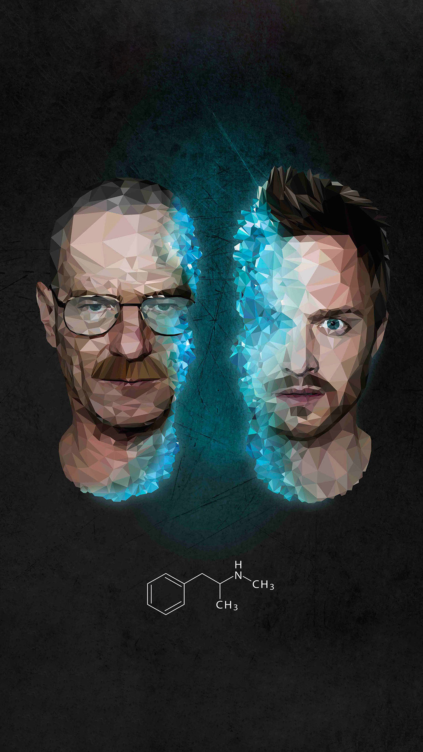 breaking bad epic polygon wallpaper for your Quad HD phone