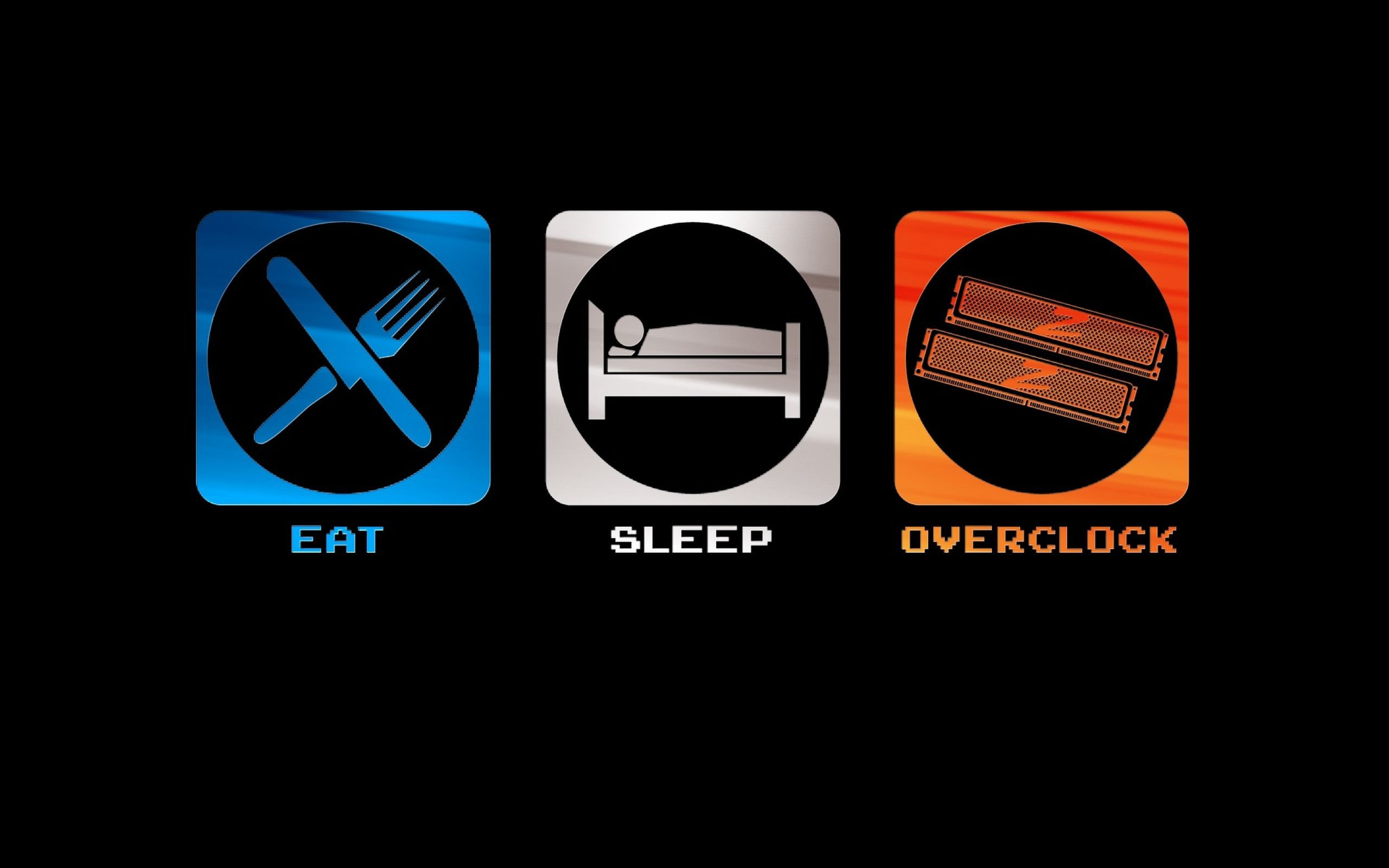Image for Free Eat Sleep Overclock Technology HD Wallpaper