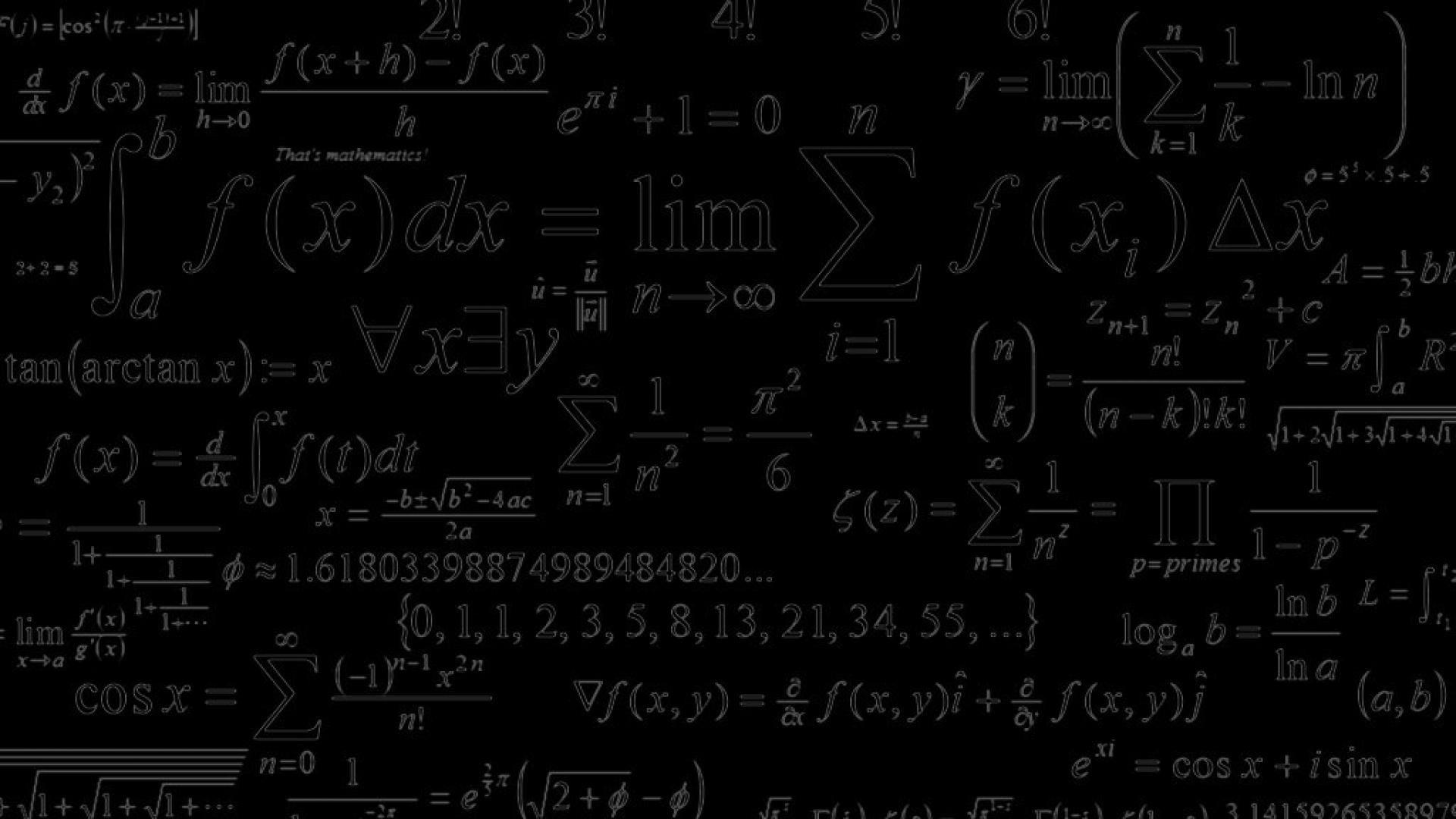 Math Wallpaper.