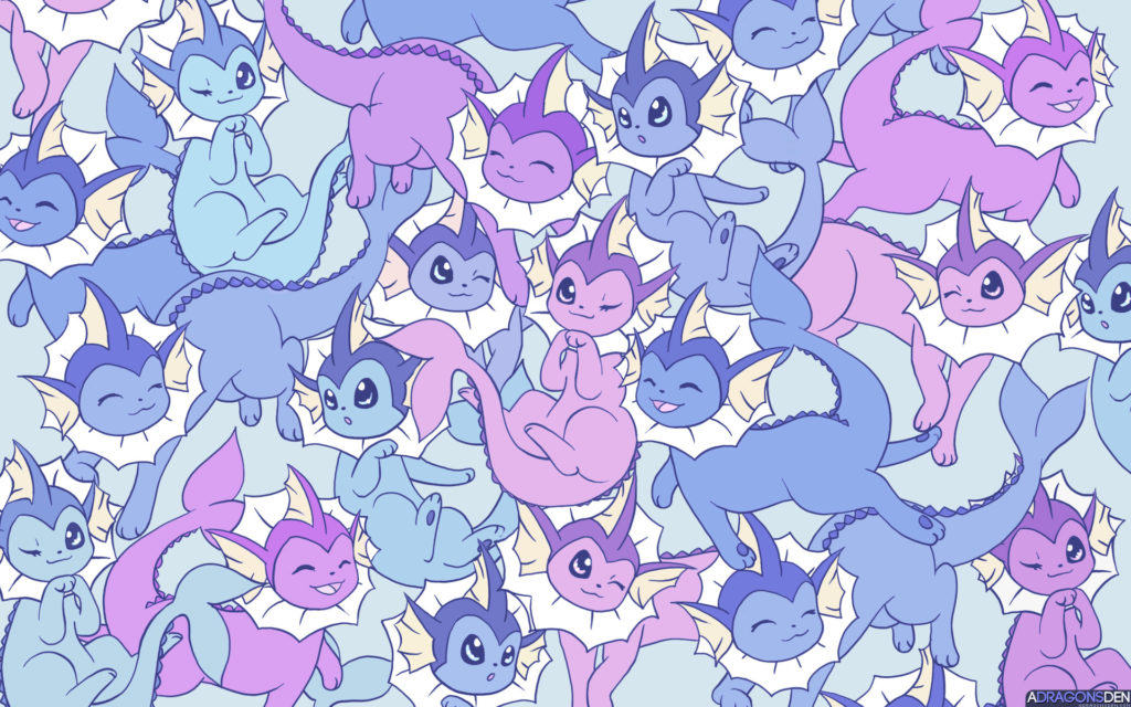 Anime РPok̩mon Vaporeon (Pok̩mon) Eeveelutions Shiny Pok̩mon Wallpaper
