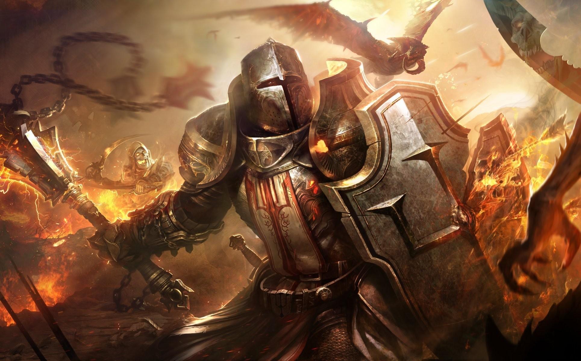 crusader diablo 3 warrior armour evil daemons crusader helmet