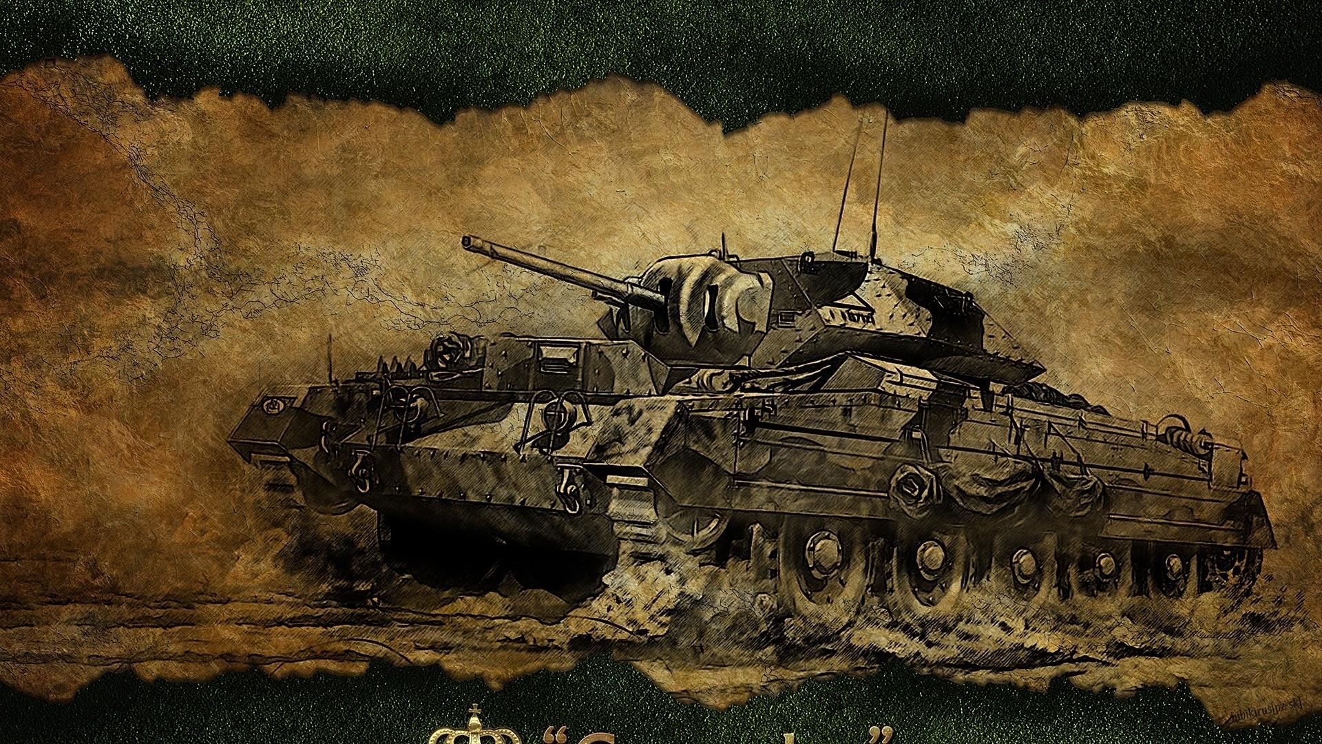 Preview wallpaper world of tanks, crusader, tank, game, figure 1920×1080