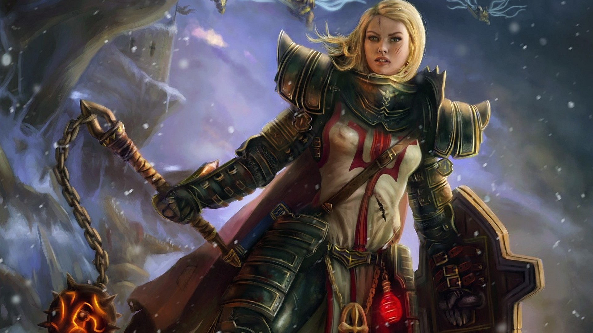 knight, Fantasy Armor, Diablo III, Crusaders Wallpapers HD / Desktop and  Mobile Backgrounds
