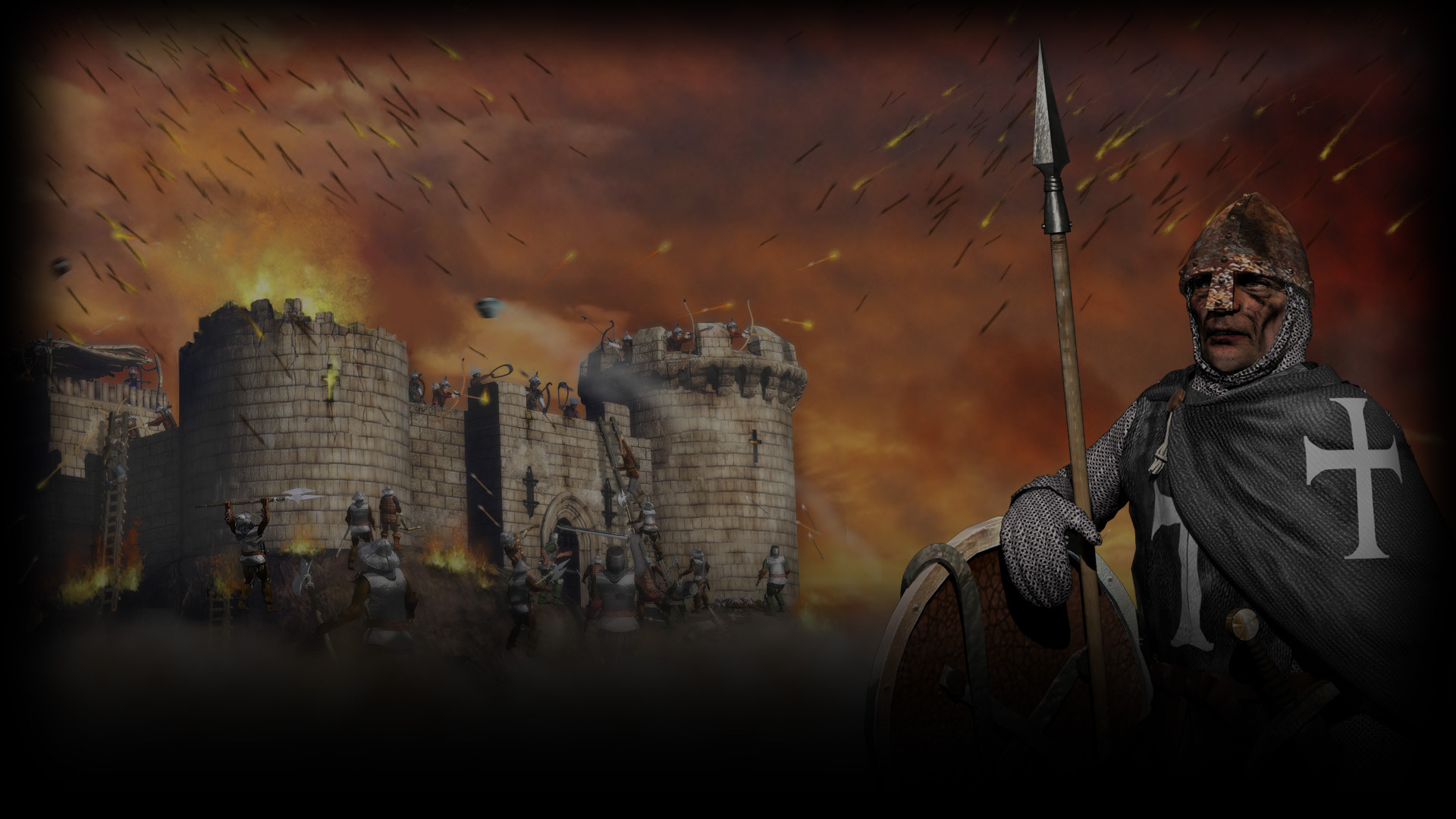 Image – Stronghold Crusader HD Background Templar.jpg   Steam Trading Cards  Wiki   FANDOM powered by Wikia