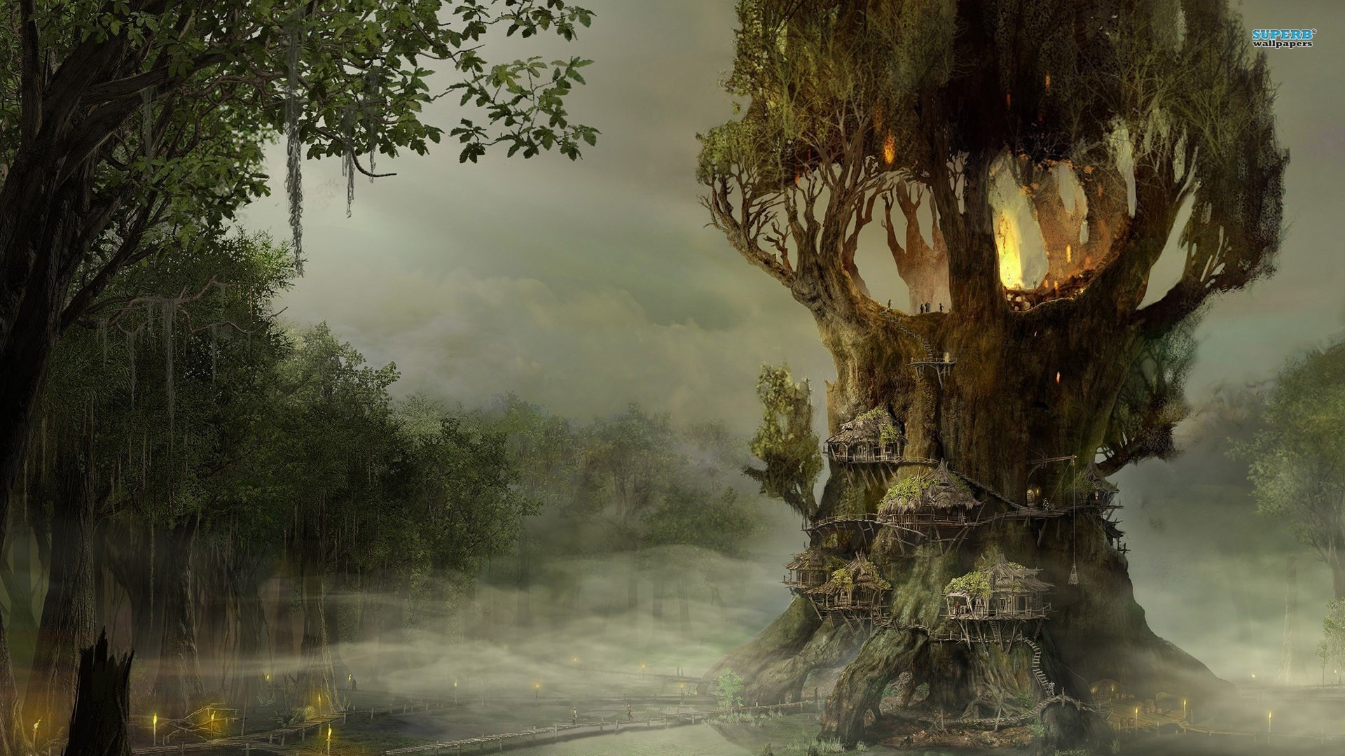 Yggdrasil Tree Fantasy Hd Wallpaper X