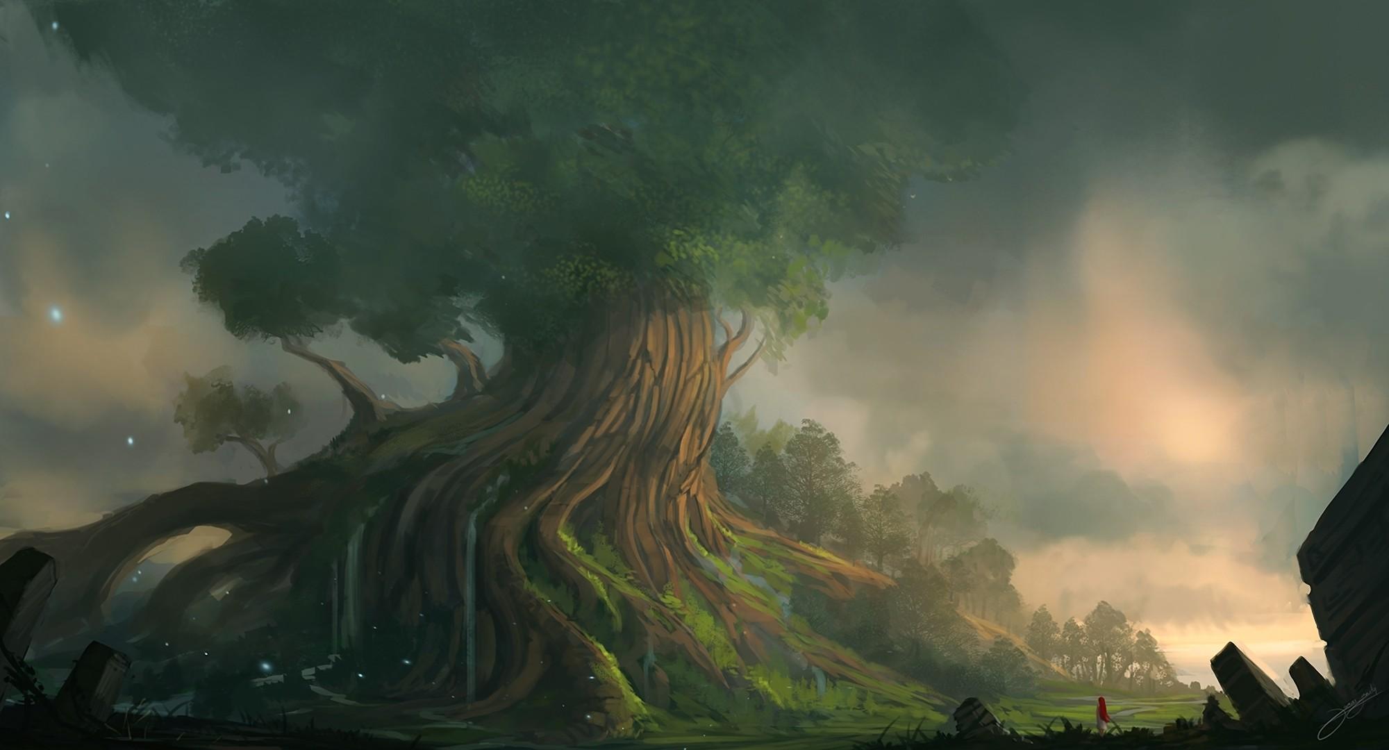 Fantasy – Landskap Bakgrund