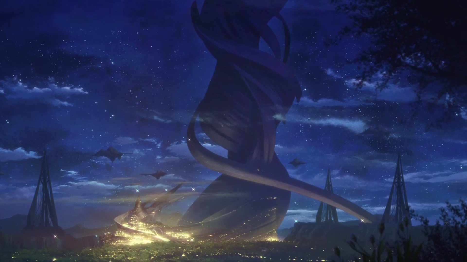 Image – The World Tree at night.png | Sword Art Online Wiki | FANDOM  powered by Wikia