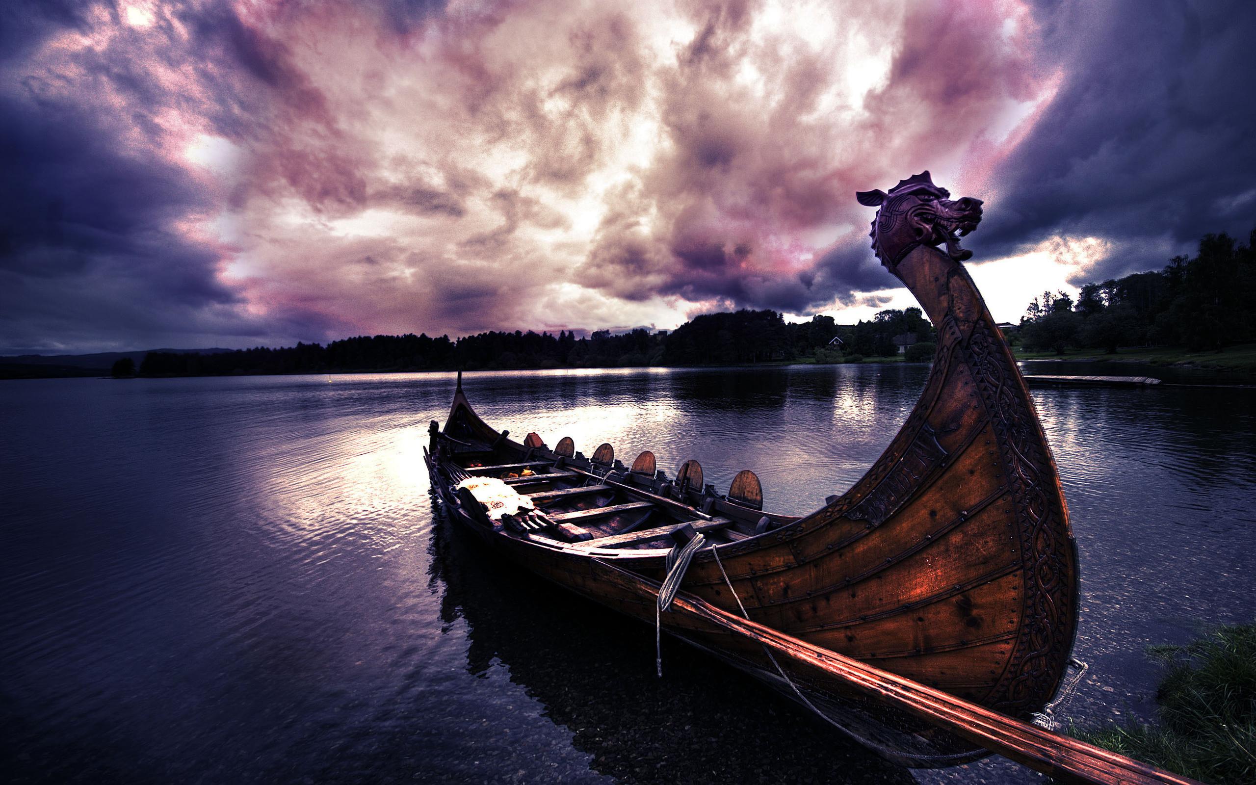Viking Boat Wallpaper 2560×1600. Wallpapers 3d for desktop, 3d .