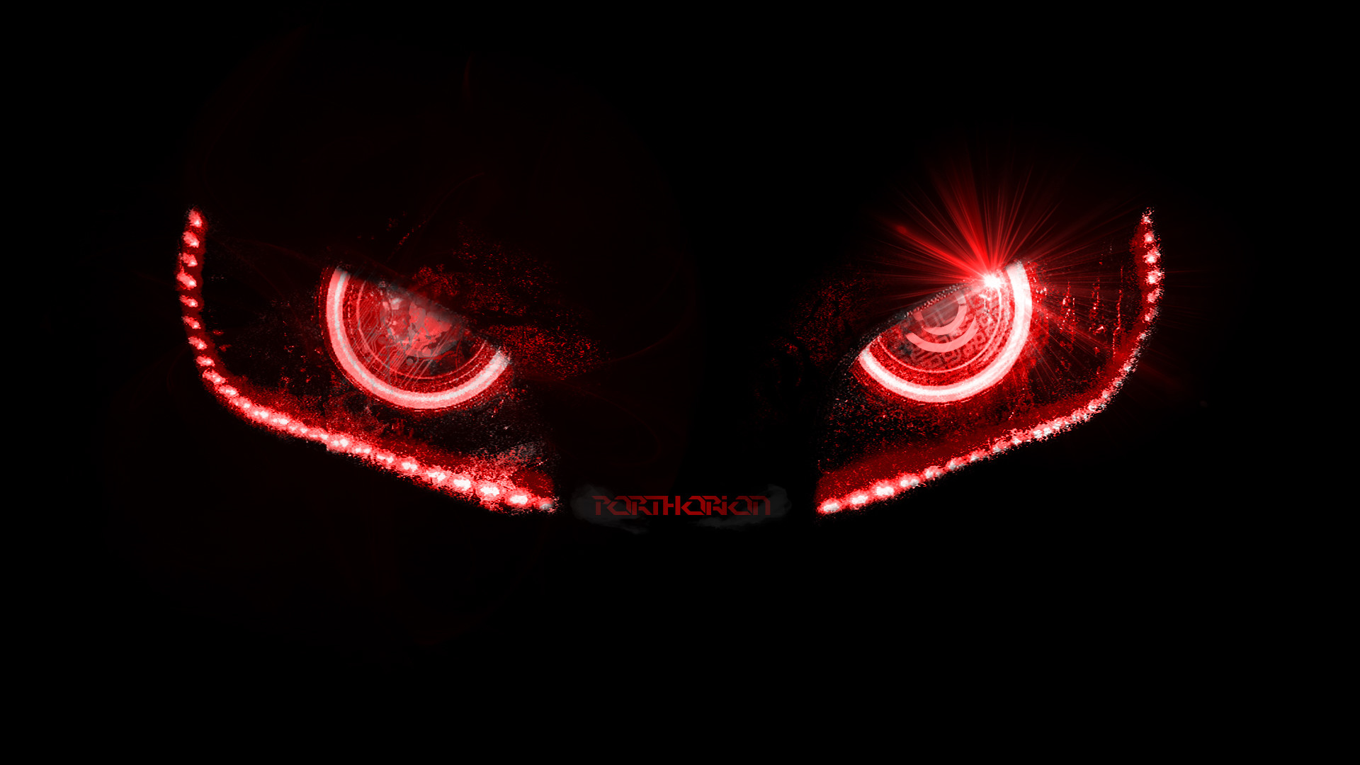 … Badass Evil Robotic Eyes – without lines by porthorion