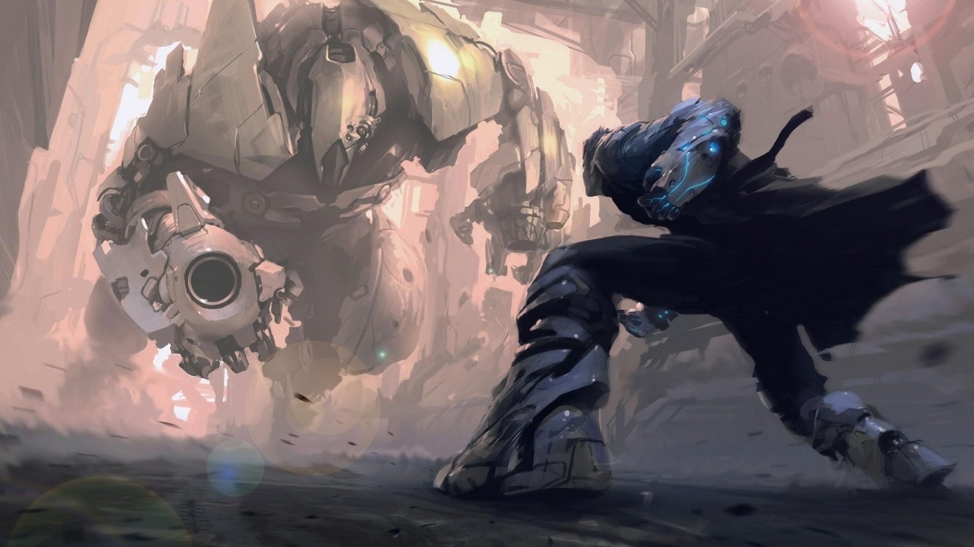 Robot in a Cape Fantasy Art HD Wallpaper. « »