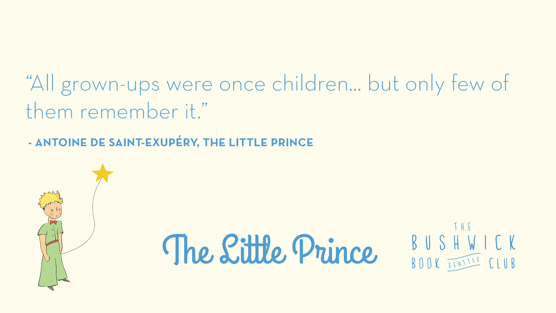 Original Music Inspired by The Little Prince is at 6pm at the Fremont  Abbey. Before you go take a look at some inspiring quotes from Antoine de  …