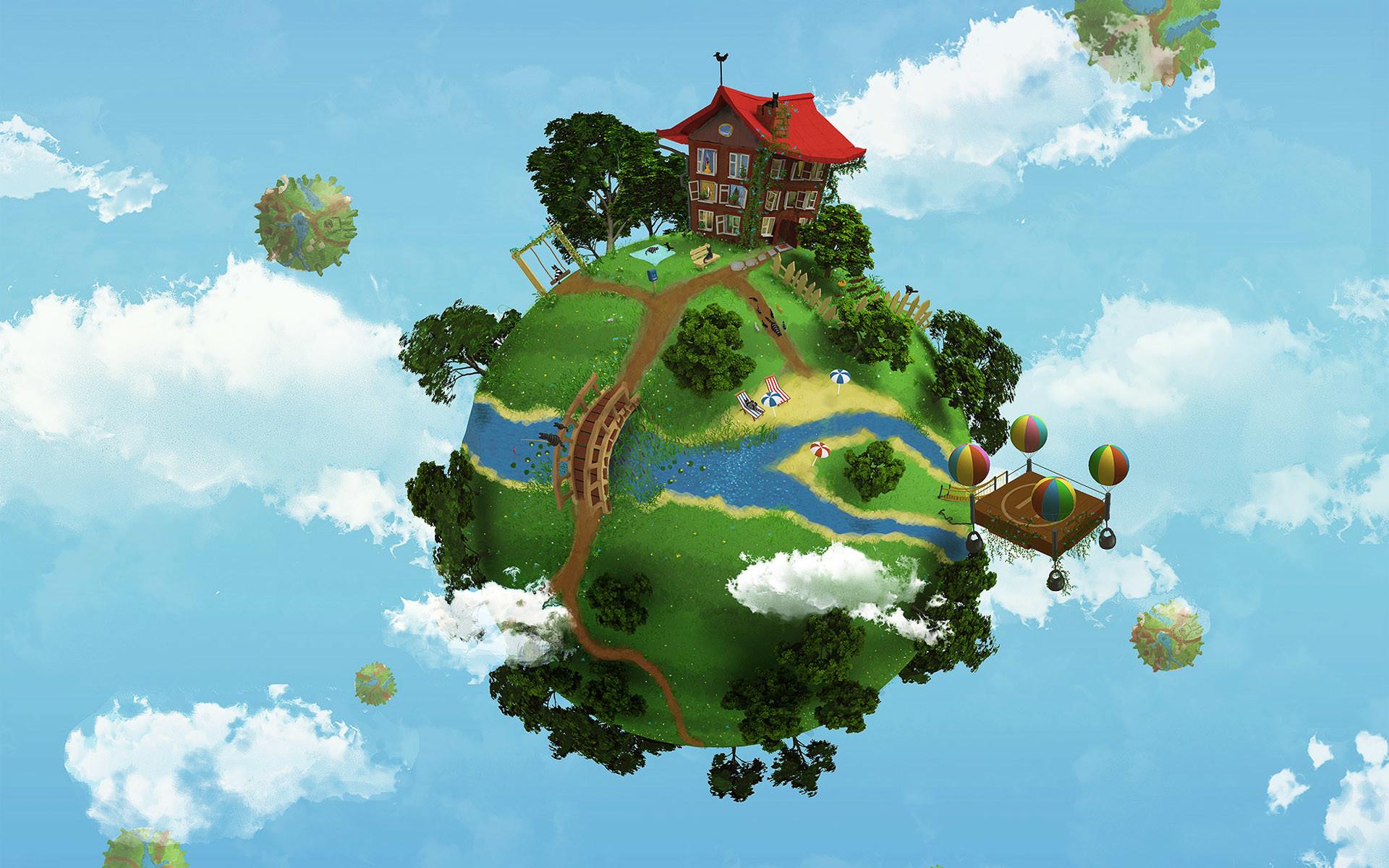 <b>Green Earth</b> Background <b>Wallpaper</