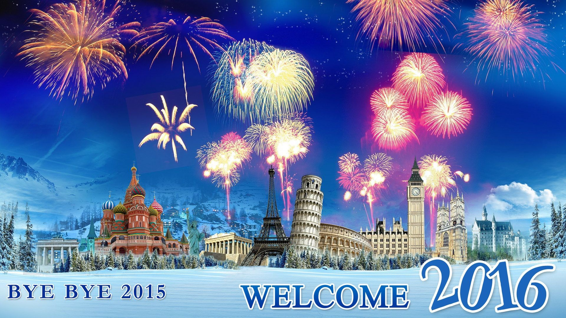 Bye bye 2015 welcome 2016 wallpaper – Free full hd wallpapers for .