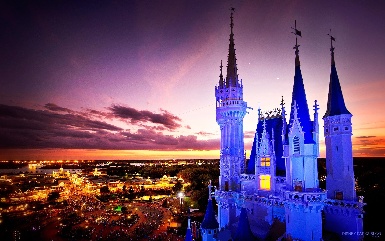 Image cinderella castle night disney.