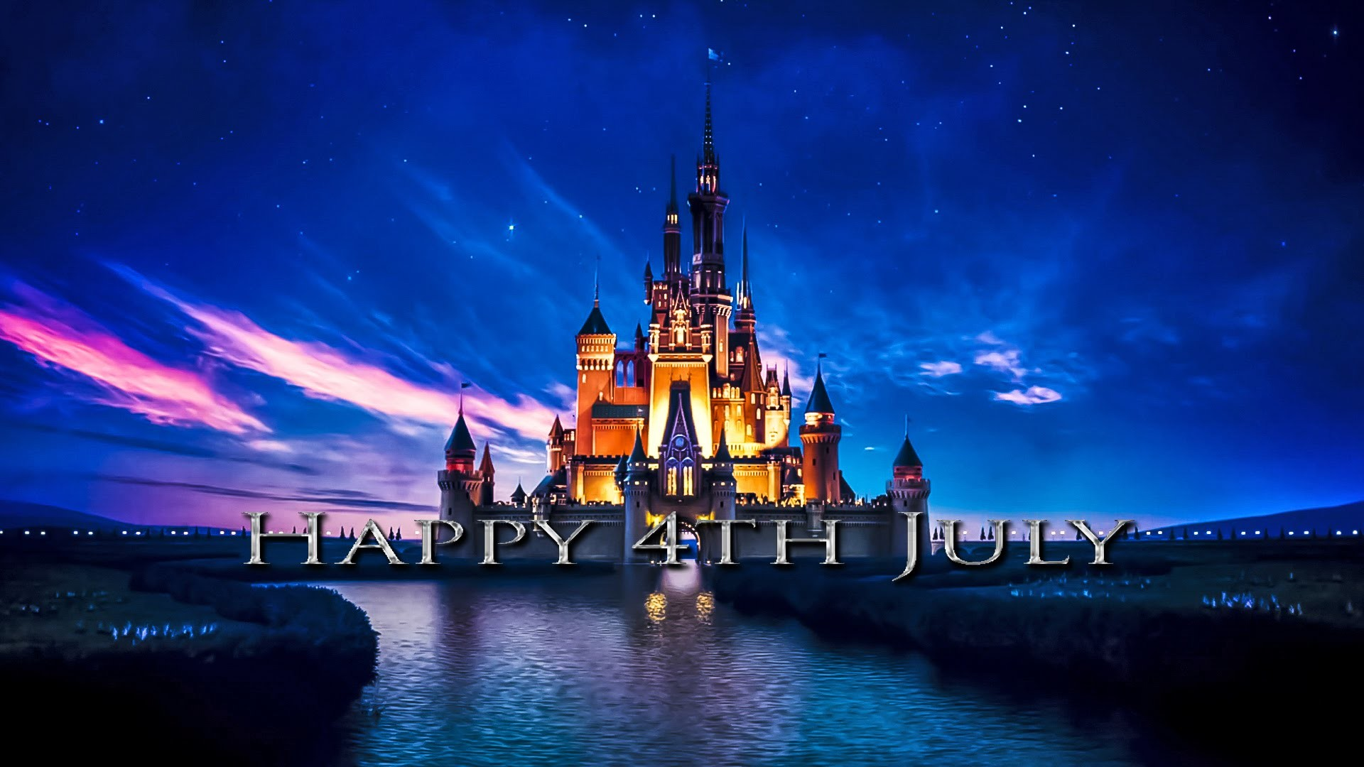 Disney Castle Flies The Stars And Stripes For The 4th Of July – small