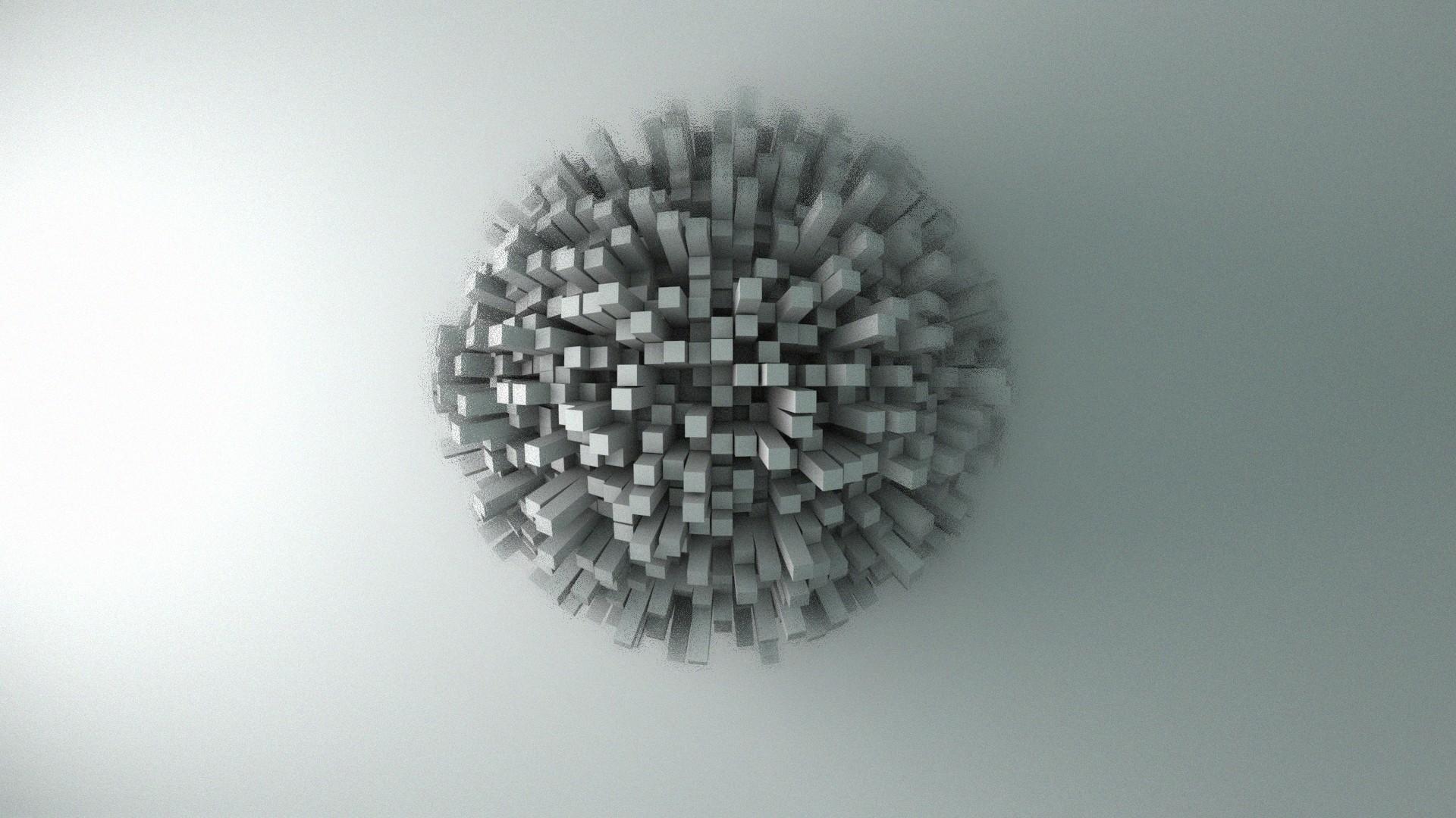 Minimalistic Wallpaper Widescreen : 3d & abstract Wallpaper .