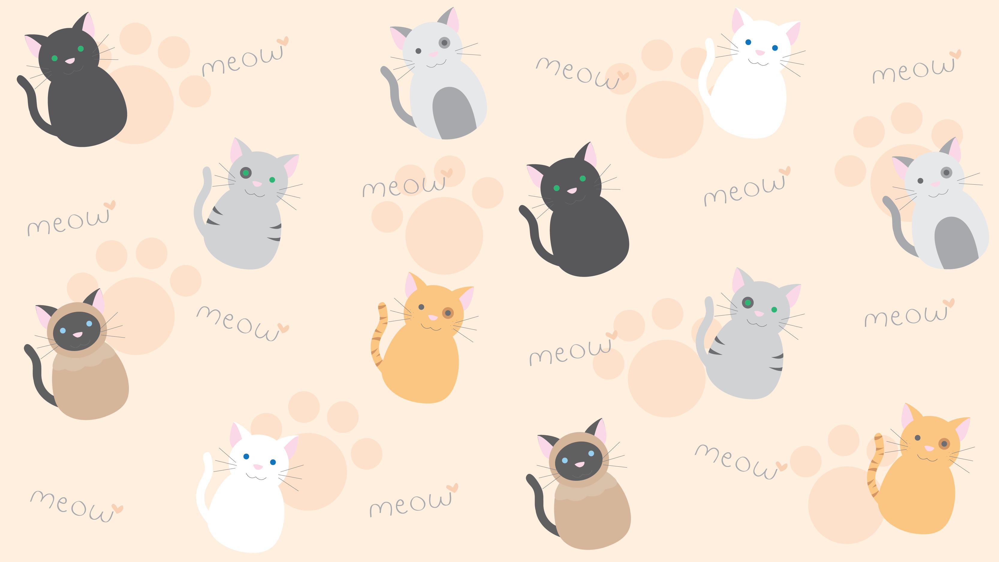 kawaii kitty wallpaper by technicolorblackout customization wallpaper .