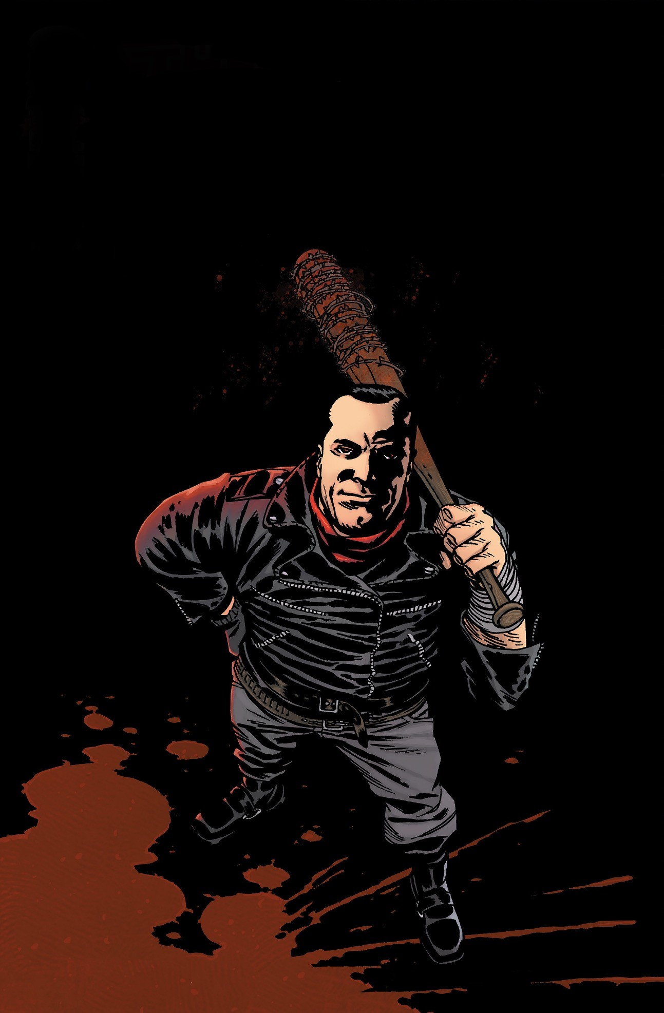 With a little editing I made a phone wallpaper of Negan from the comic  cover.