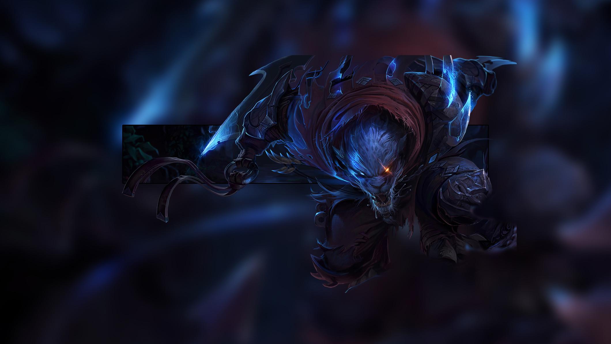 Night Hunter Rengar by Insane HD Wallpaper Fan Artwork League of Legends lol