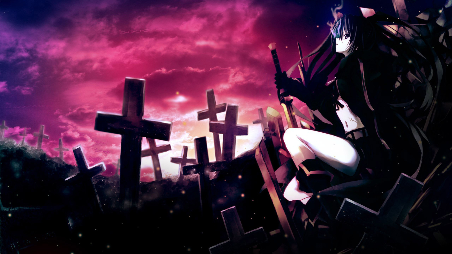 … Download Insane Black Rock Shooter Wallpapers HD:76-BRF Pictures,  Top4Themes Pack IX