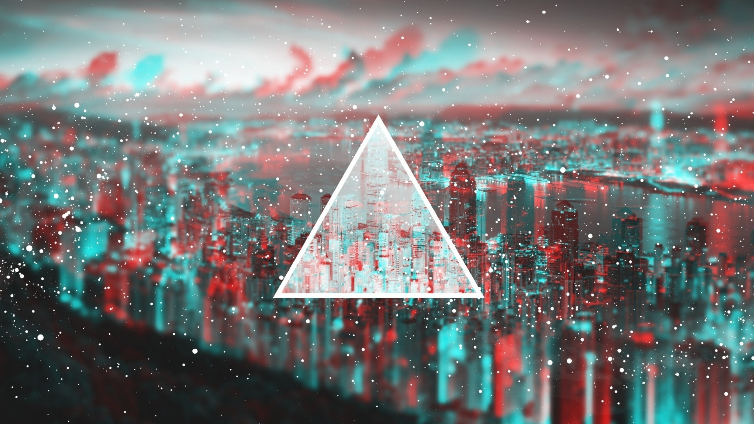 Wallpaper triangle, light, blurred
