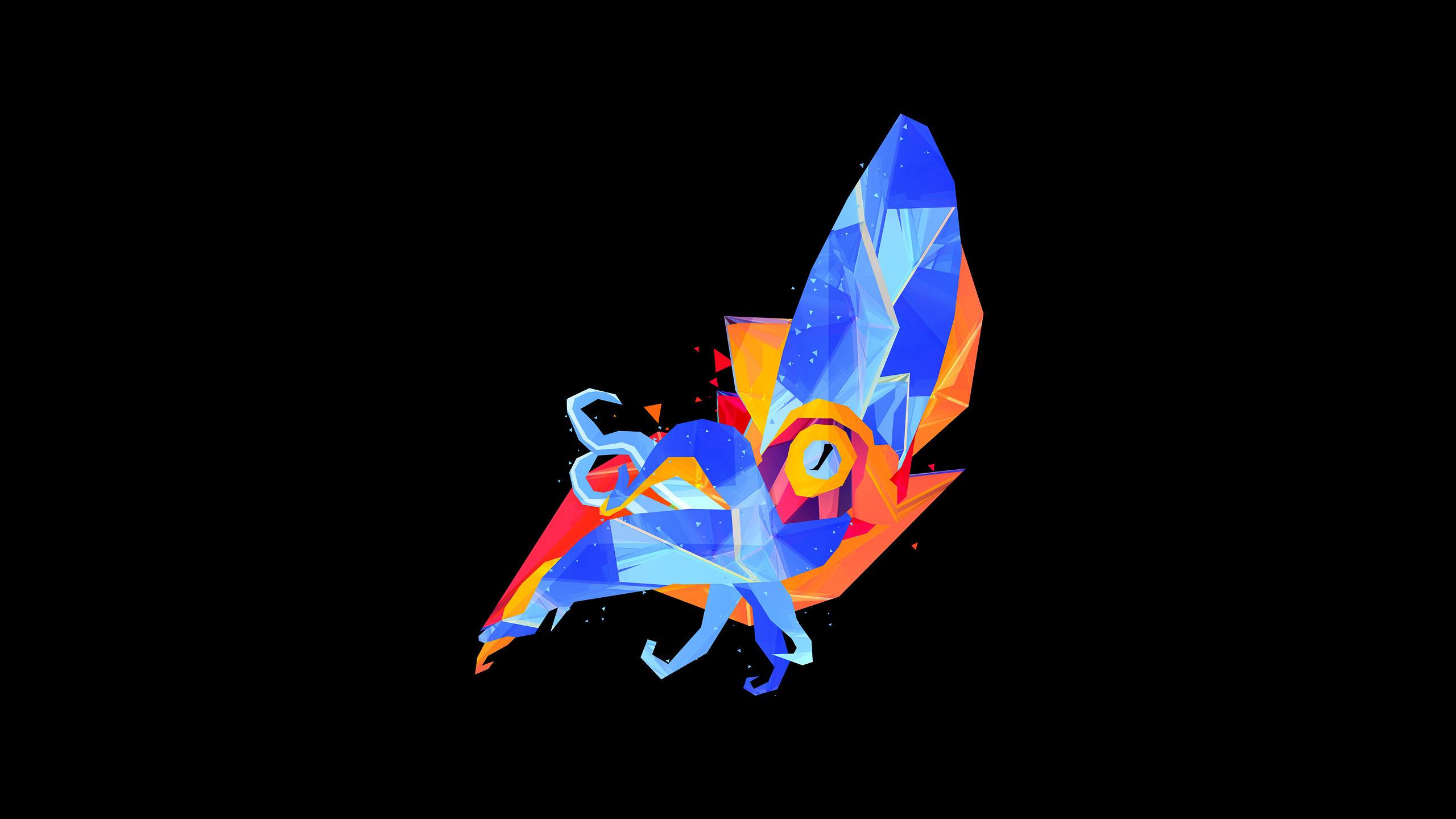 2560 x 1440. A squid. | Geometric and Polygon Wallpaper | Pinterest
