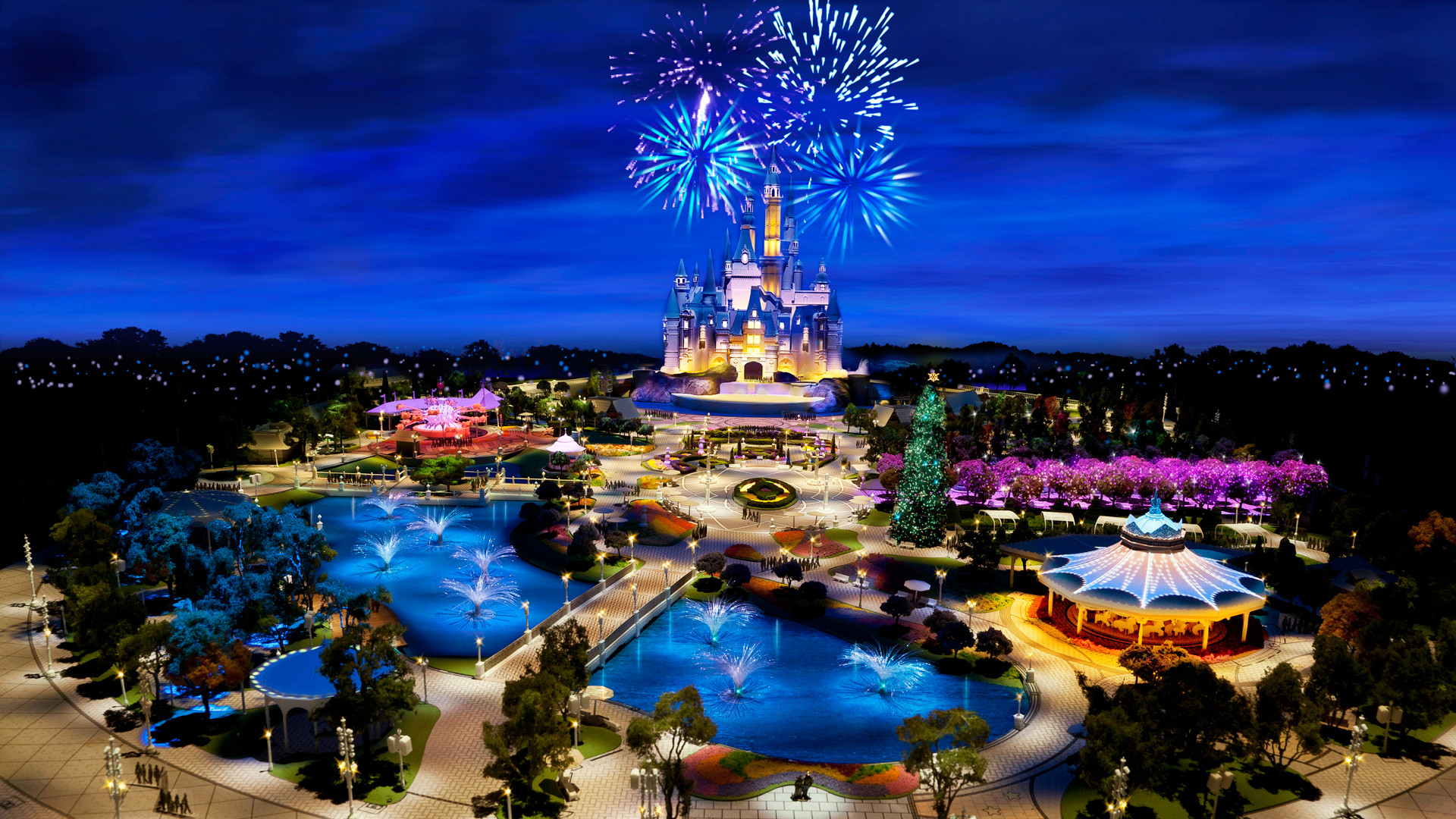 Disney Parks Wallpaper HD For Desktop.