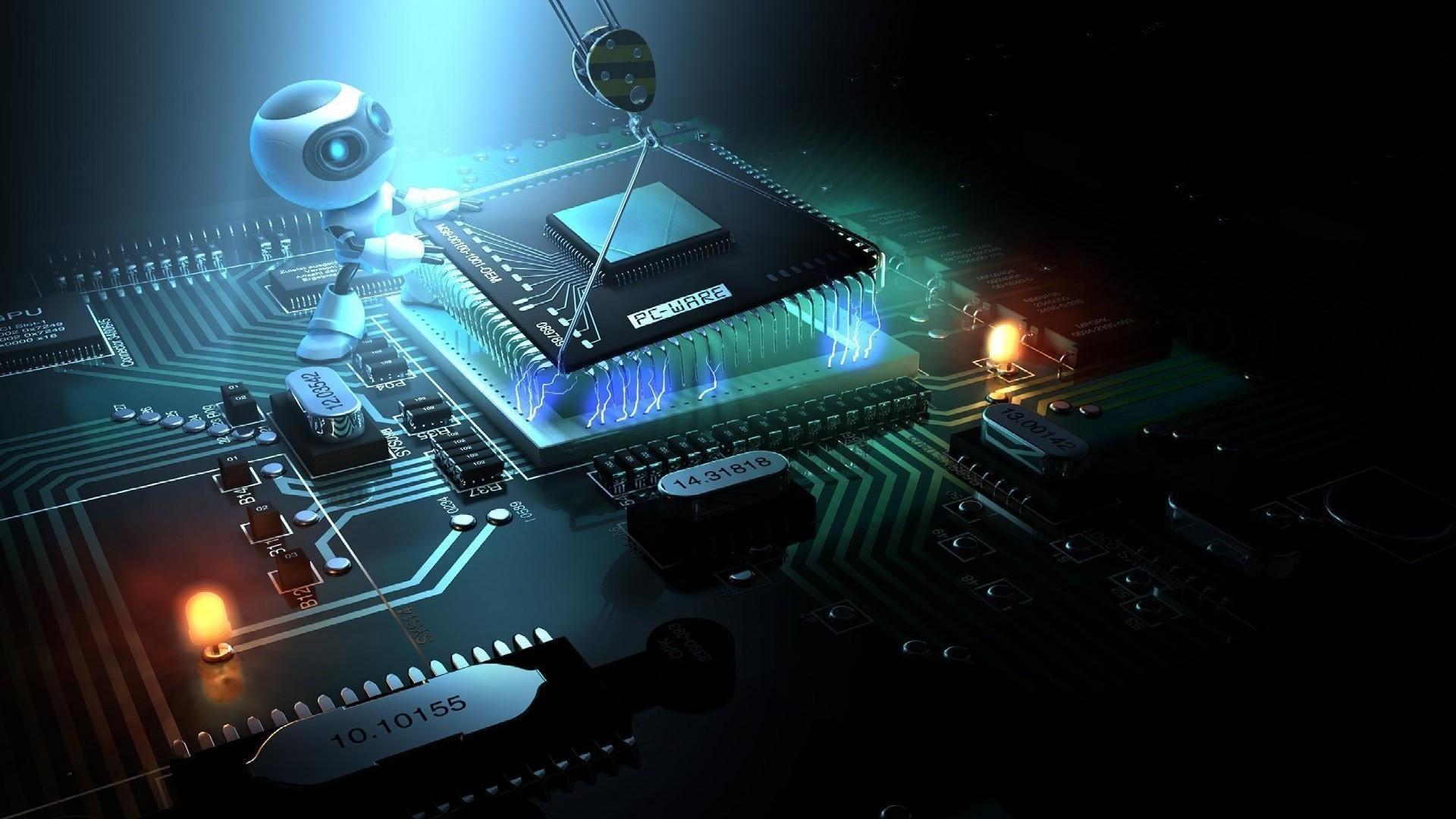 Robot Dismantling Motherboard
