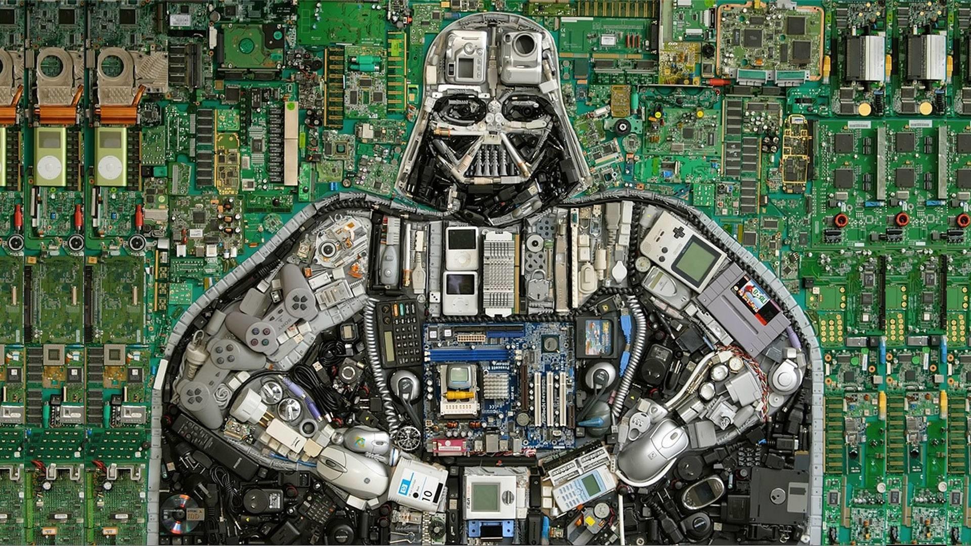 Darth Vader Mosaic [1920×1080] …