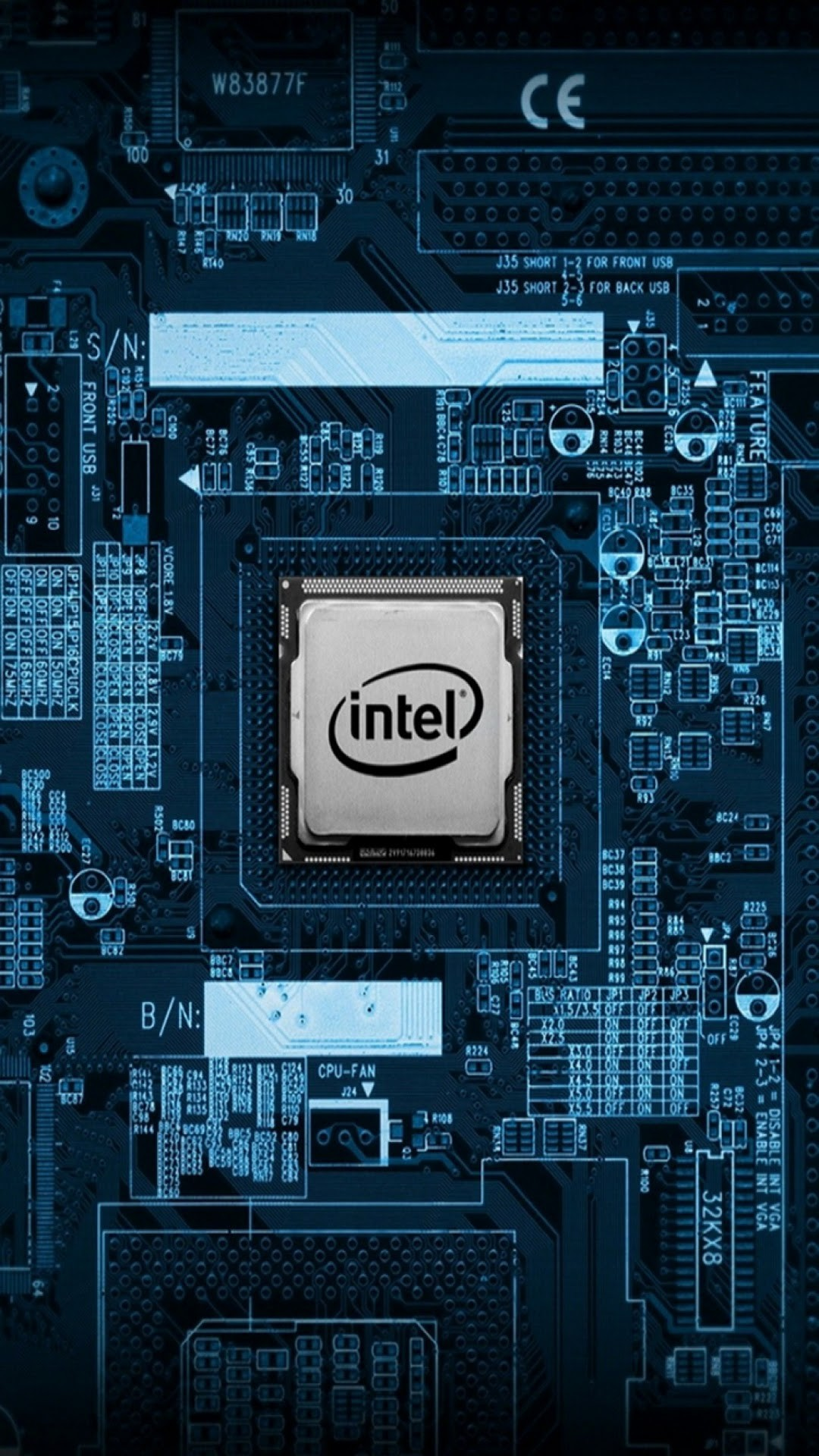 Click here to download pixel Intel CPU Motherboard Internals  Galaxy Note HD Wallpaper