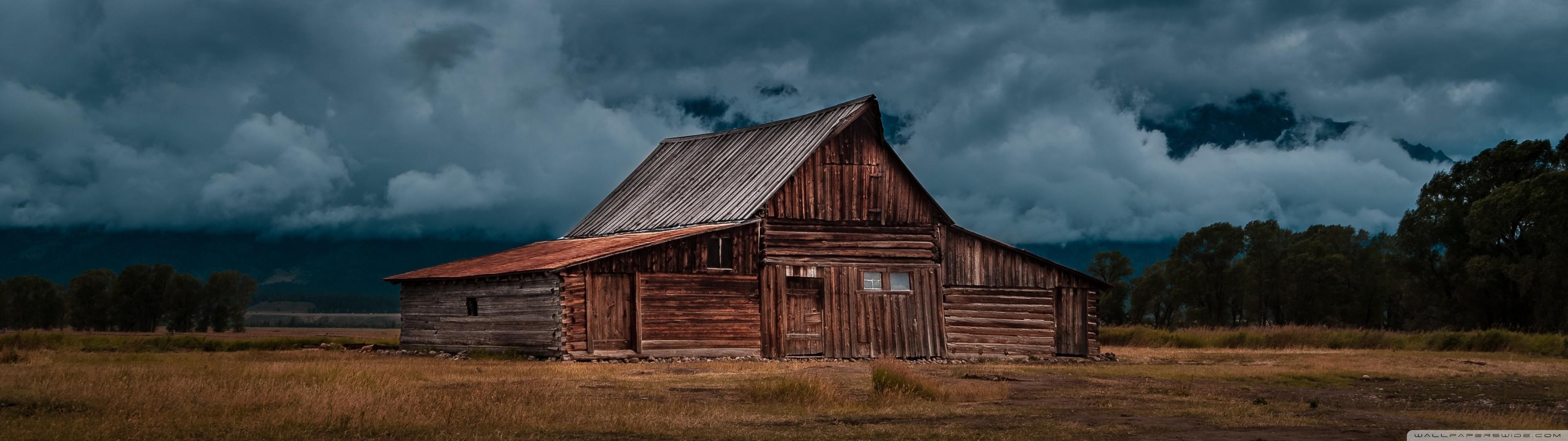 Abandoned Barn Dual Monitor Wallpaper 3840×1080