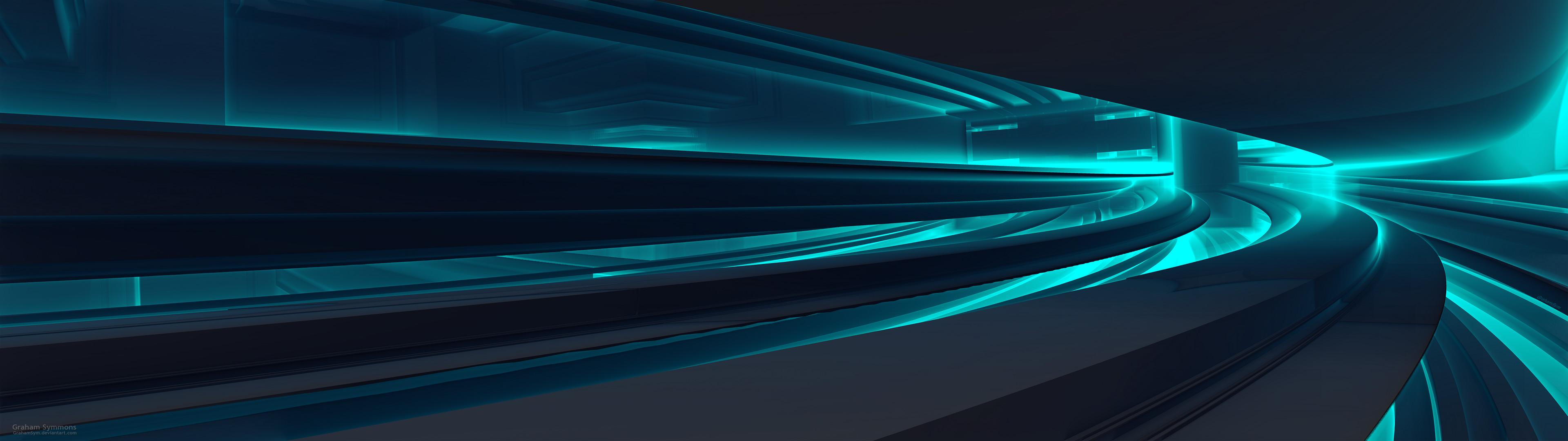 Underpass-Dual Display Fractal by GrahamSym on DeviantArt